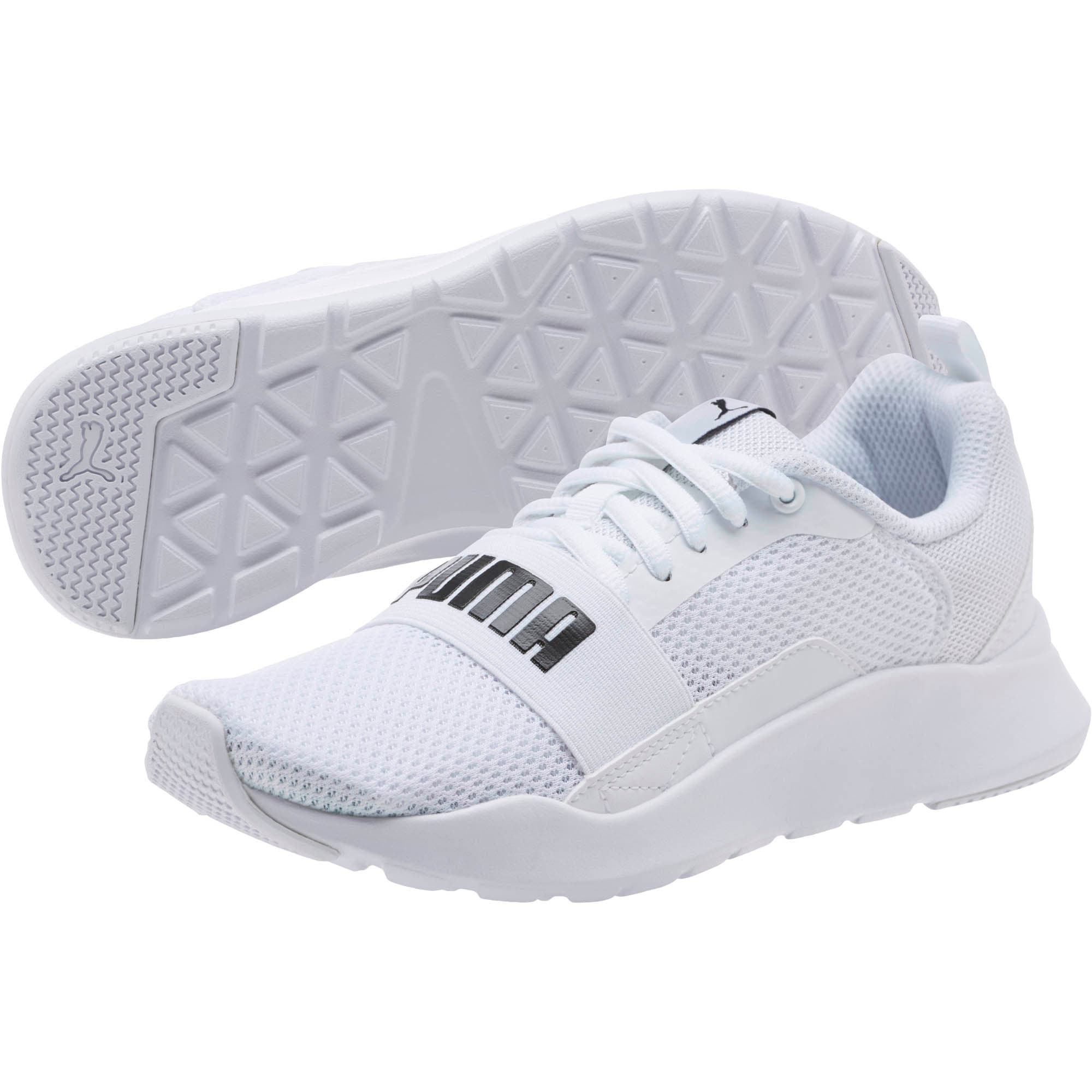Thumbnail 2 of PUMA Wired Sneakers JR, Puma White-Puma White-White, medium