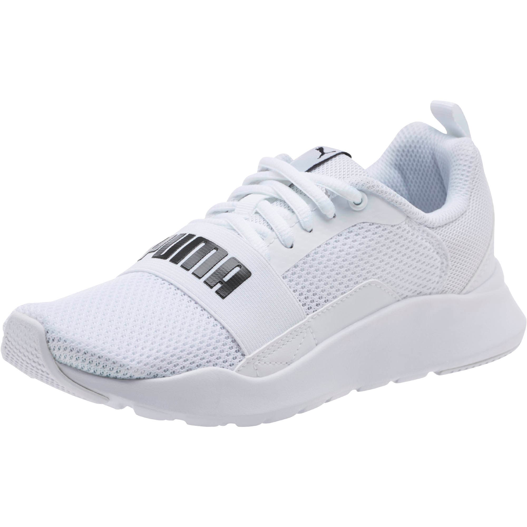 Thumbnail 1 of PUMA Wired Sneakers JR, Puma White-Puma White-White, medium