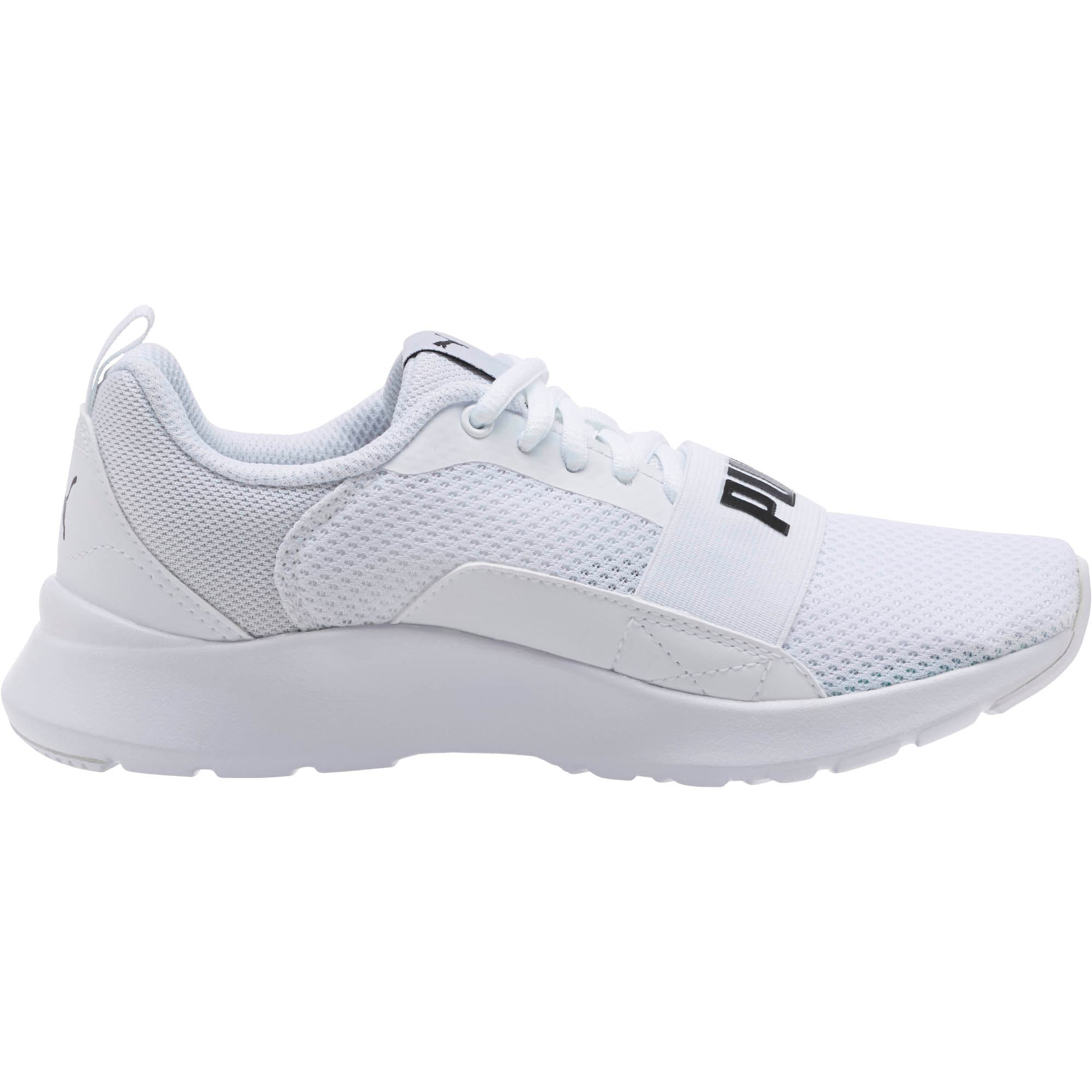 Thumbnail 3 of PUMA Wired Sneakers JR, Puma White-Puma White-White, medium