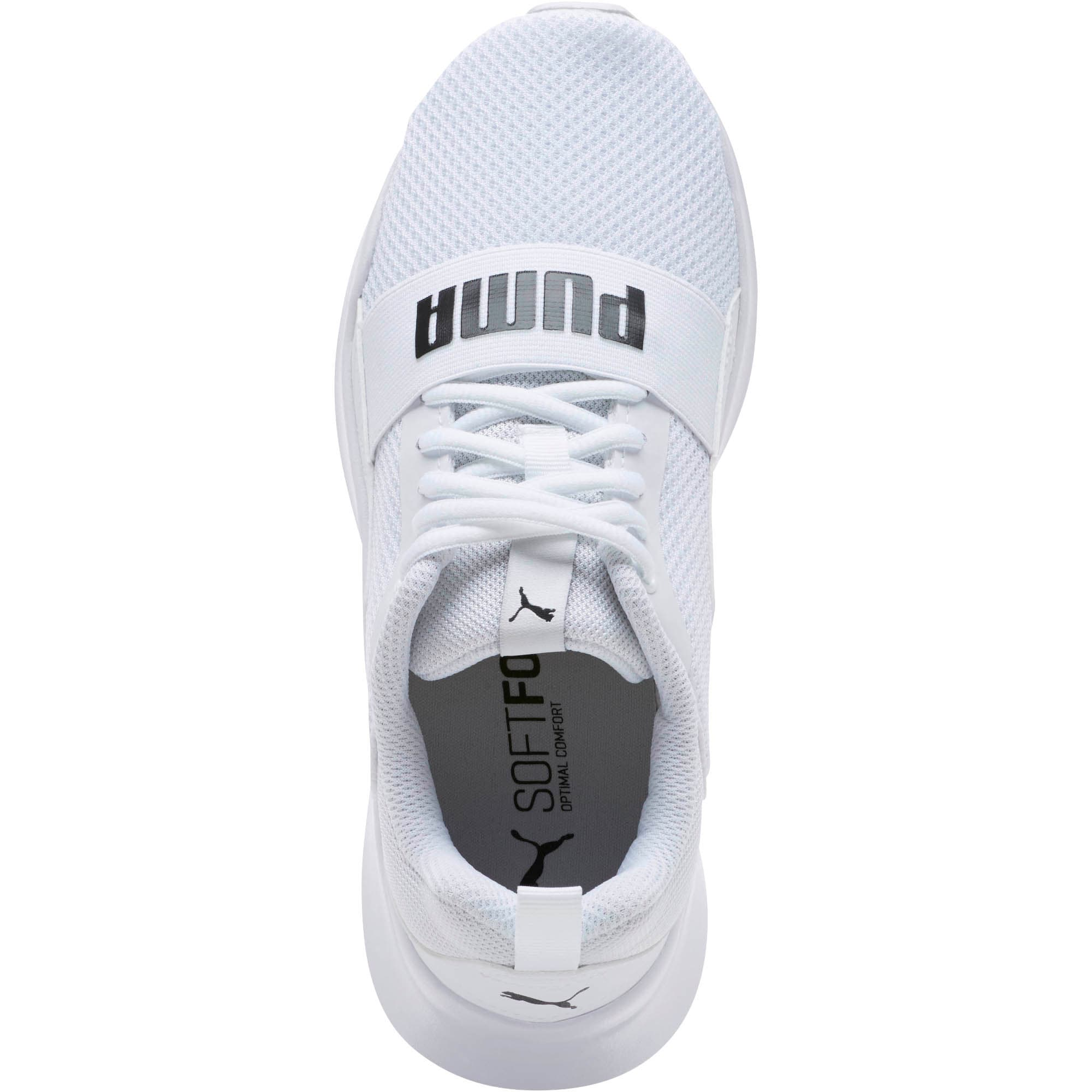 Thumbnail 5 of PUMA Wired Sneakers JR, Puma White-Puma White-White, medium