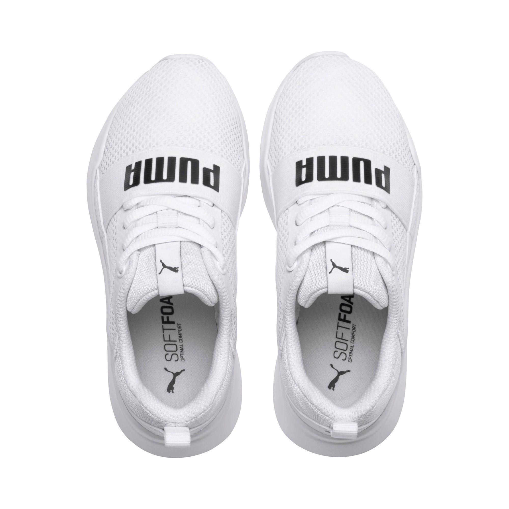 Thumbnail 6 of PUMA Wired Little Kids' Shoes, Puma White-Puma White-White, medium