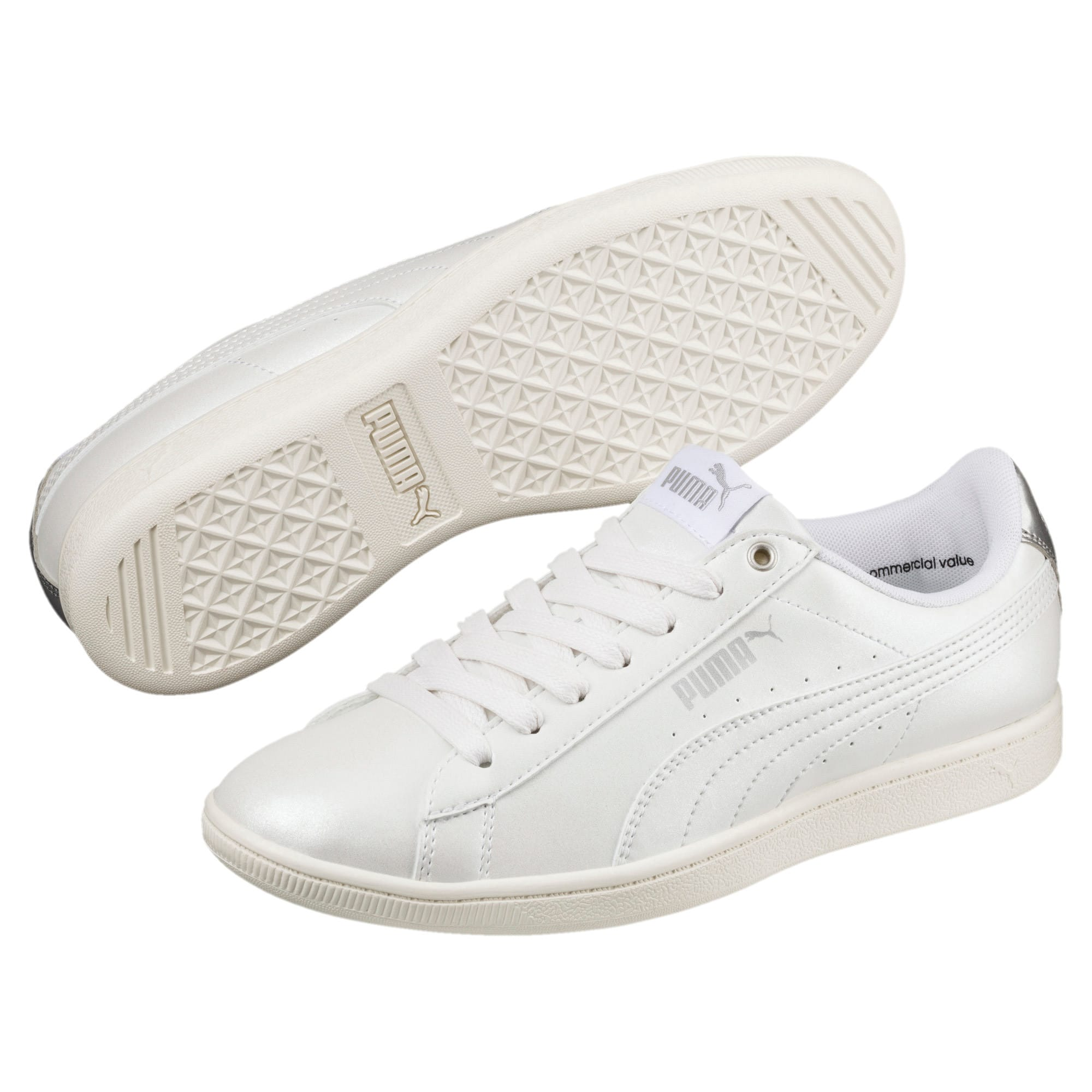 Thumbnail 2 of Puma Vikky LX Sneakers, Puma White-White-Whisper, medium