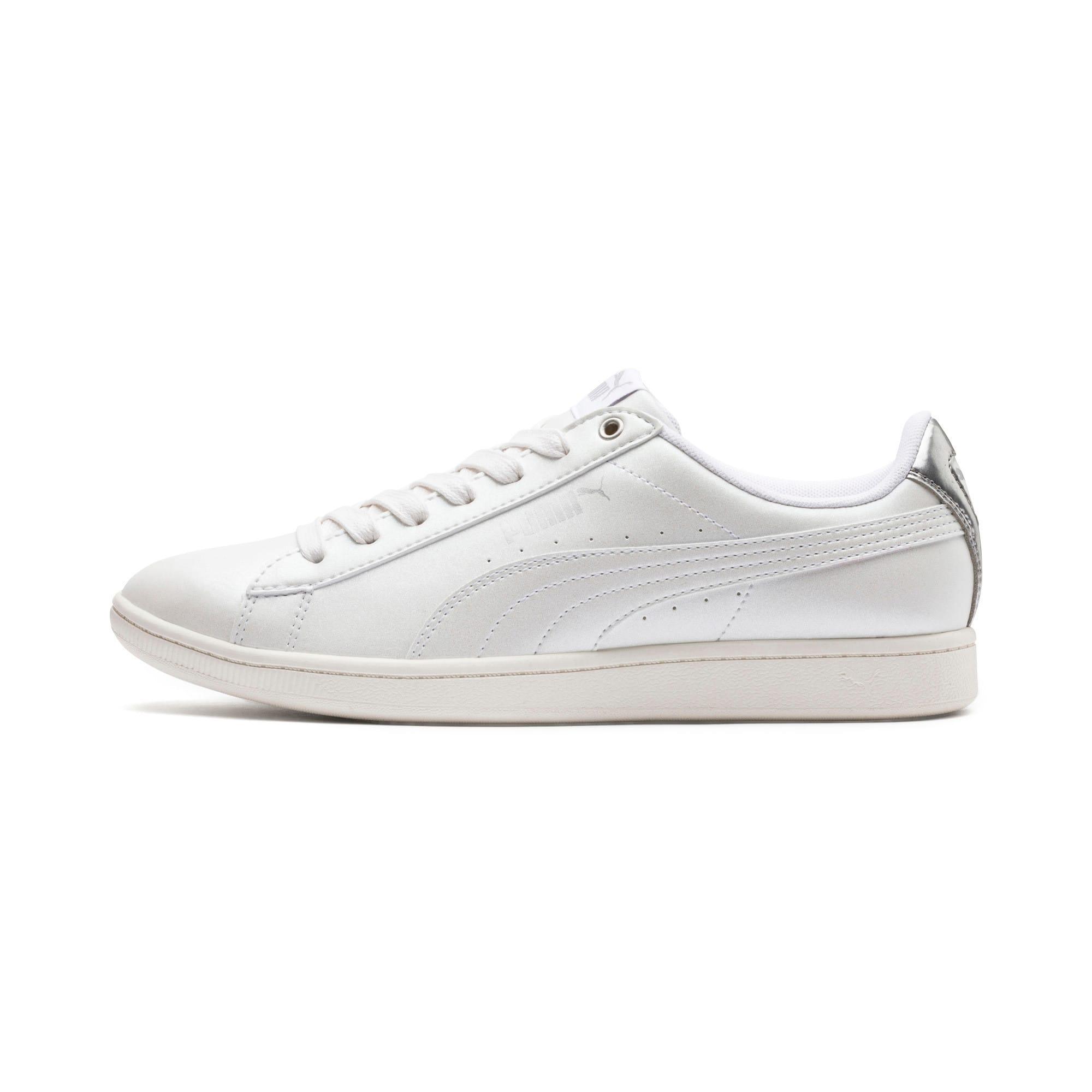 Thumbnail 1 of Puma Vikky LX Sneakers, Puma White-White-Whisper, medium