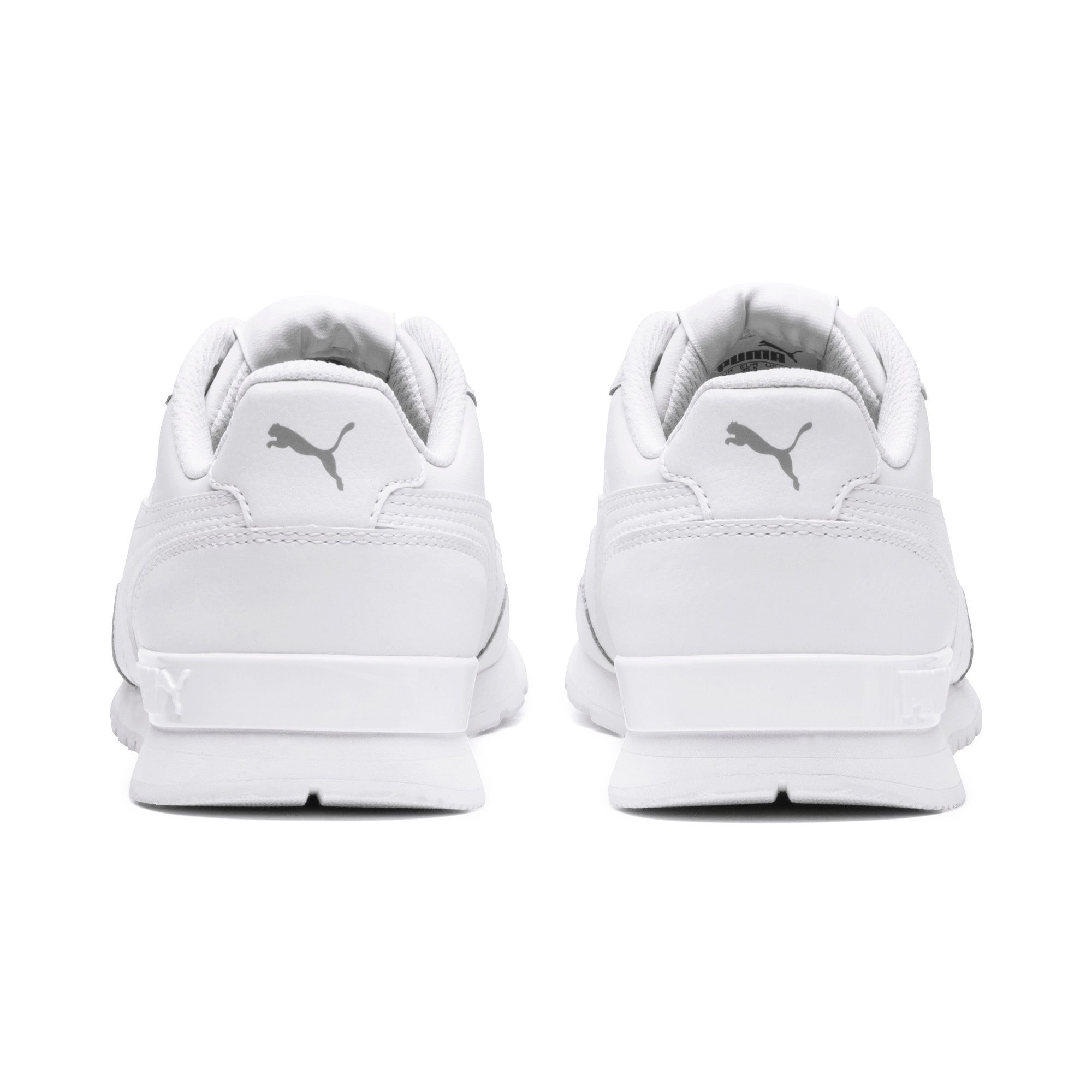 Thumbnail 4 of ST Runner v2 Leather Sneakers JR, Puma White-Gray Violet, medium