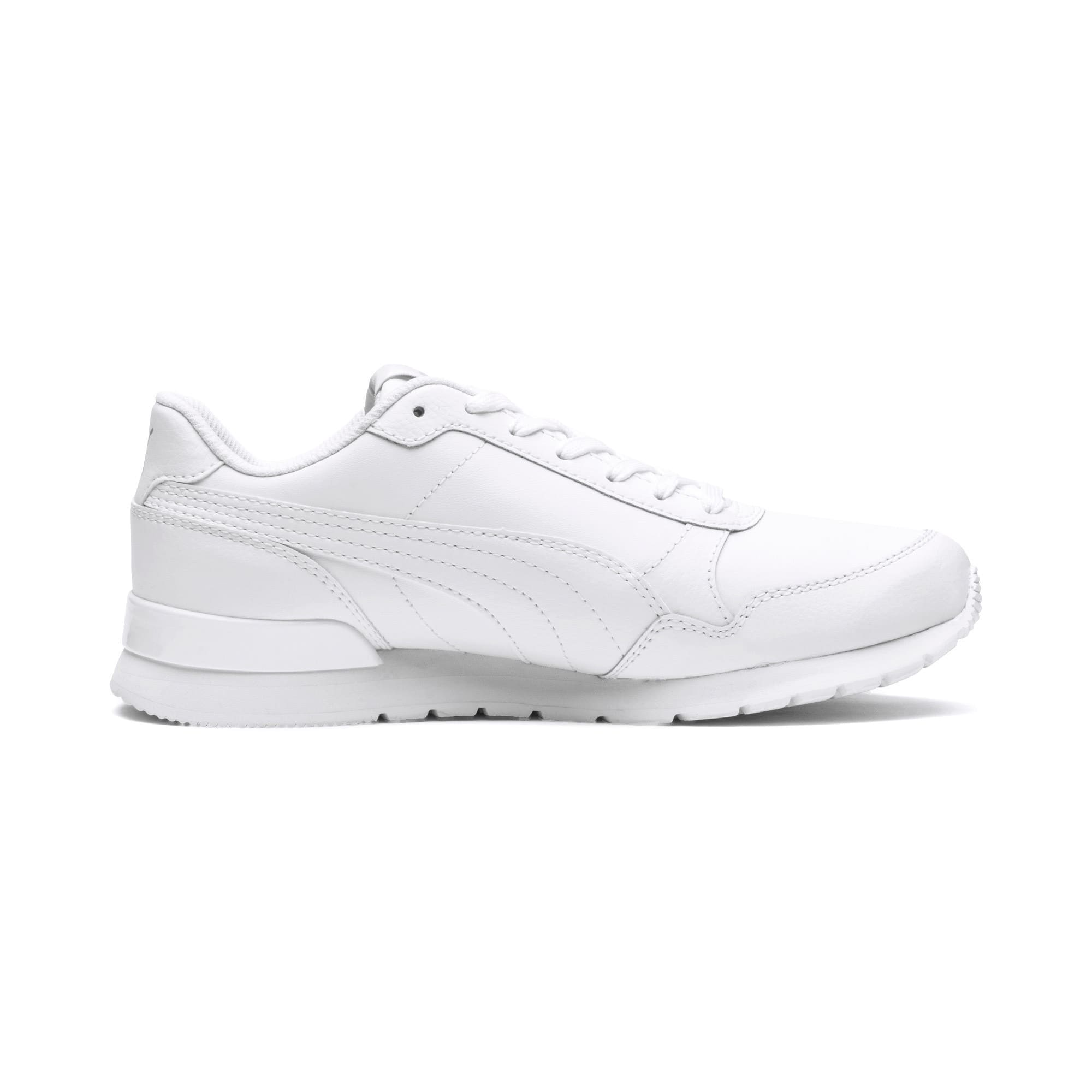 Thumbnail 5 of ST Runner v2 Leather Sneakers JR, Puma White-Gray Violet, medium
