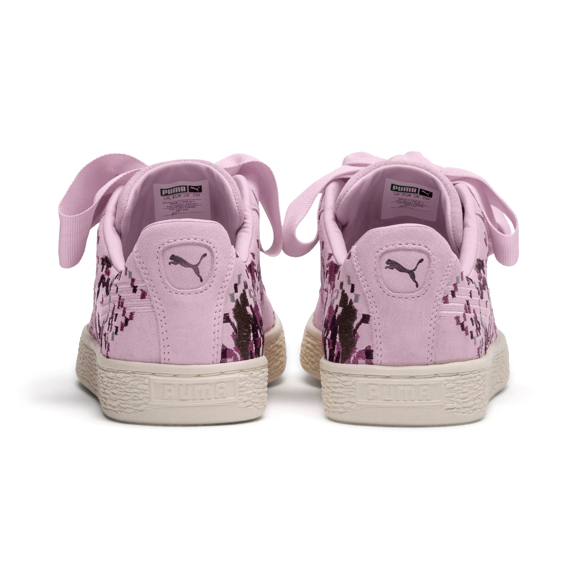 Thumbnail 4 of Suede Heart Embossed Women's Sneakers, Winsome Orchid, medium