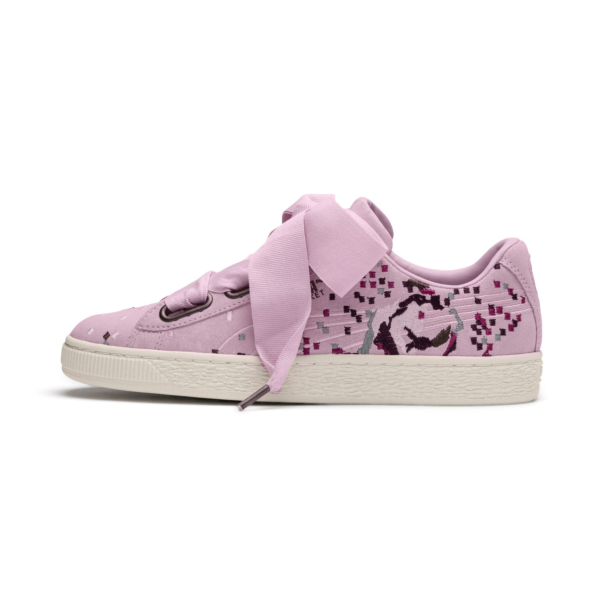 Thumbnail 1 of Suede Heart Embossed Women's Sneakers, Winsome Orchid, medium