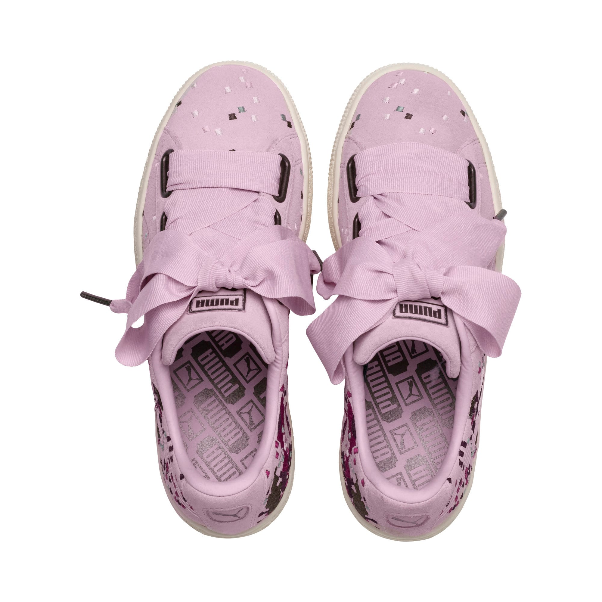 Thumbnail 6 of Suede Heart Embossed Women's Sneakers, Winsome Orchid, medium