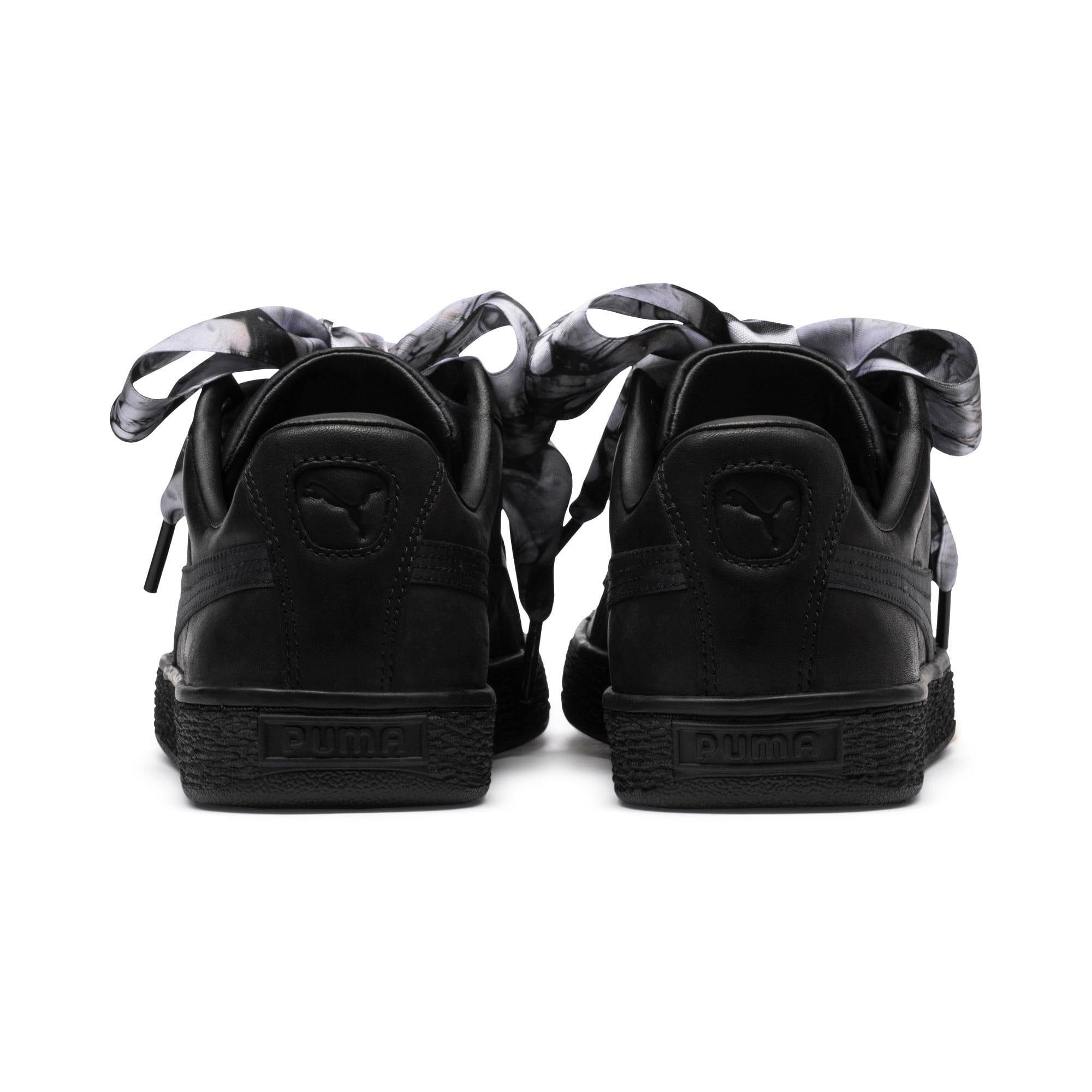Thumbnail 4 of Basket Heart Mimicry Women's Sneakers, Puma Black-Puma Black, medium