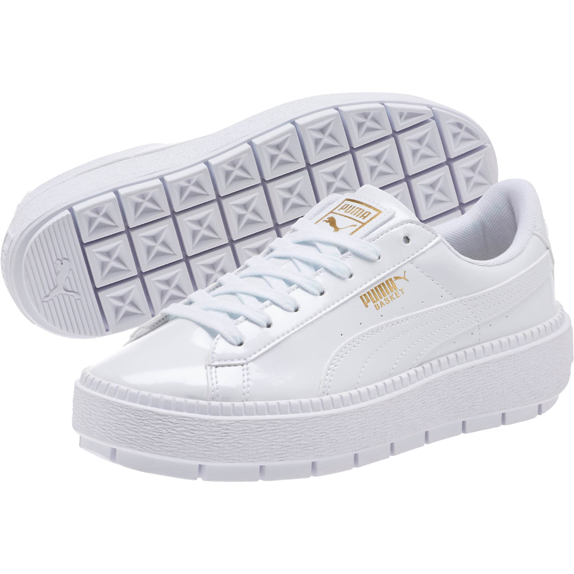 Say it WHITE with the new @puma Basket Platform Trace Patent