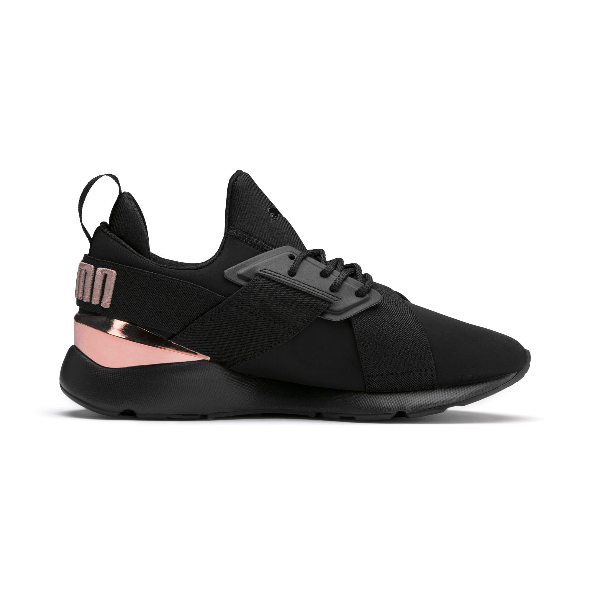 Thumbnail 5 of Muse Metal Women's Trainers, Puma Black-Rose Gold, medium