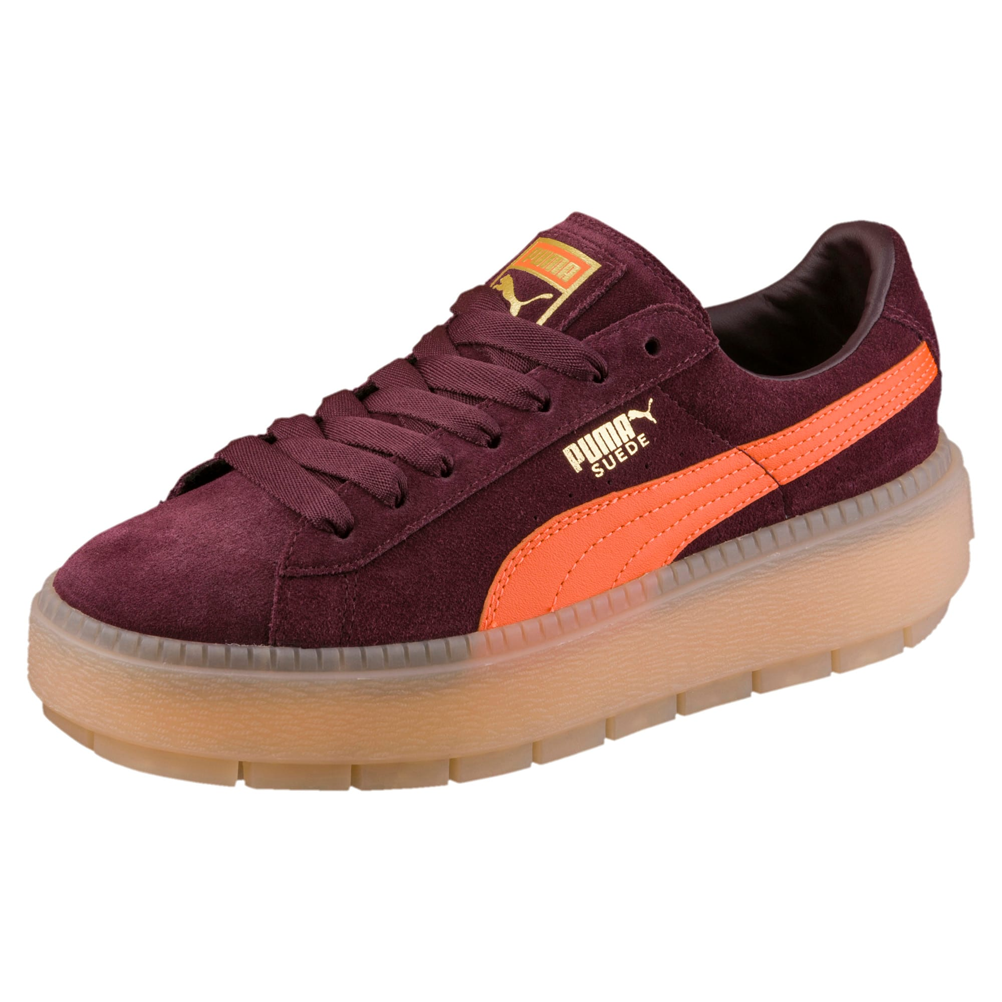Puma Women/'s PLATFORM TRACE BLOCK Shoes Vanilla Ice//Night Sky 367067-02 c