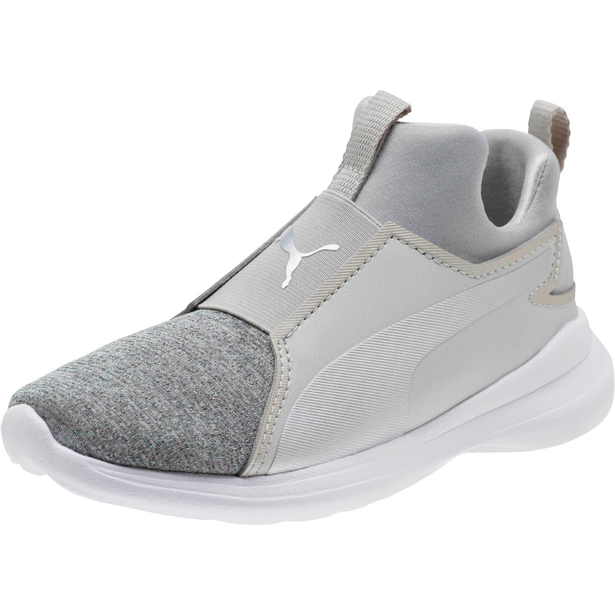 Thumbnail 1 of Puma Rebel Mid Glow Little Kids' Shoes, Gray Violet-Puma Silver, medium