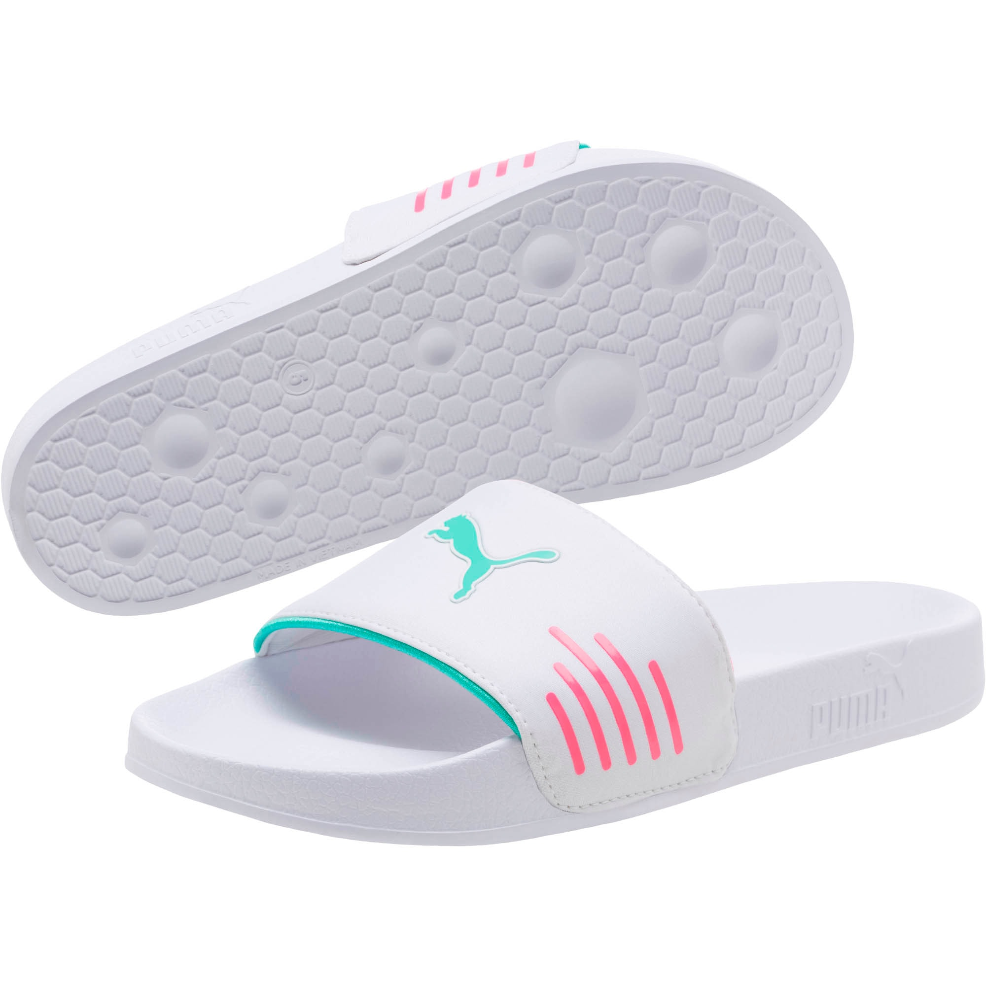 Thumbnail 2 of Leadcat Chase Women's Sandals, White-KNOCKOUT PINK-Green, medium