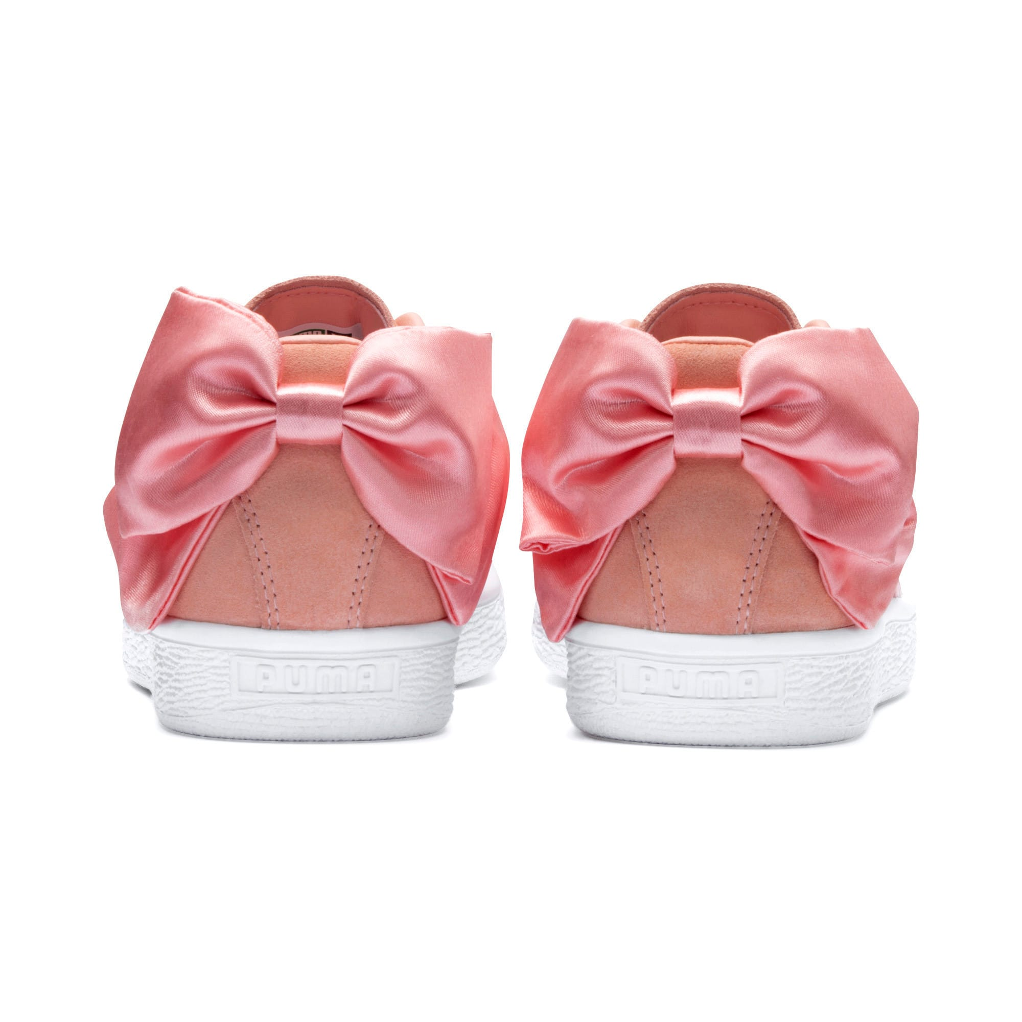 Thumbnail 3 of Suede Bow Damen, Peach Bud-Puma White, medium