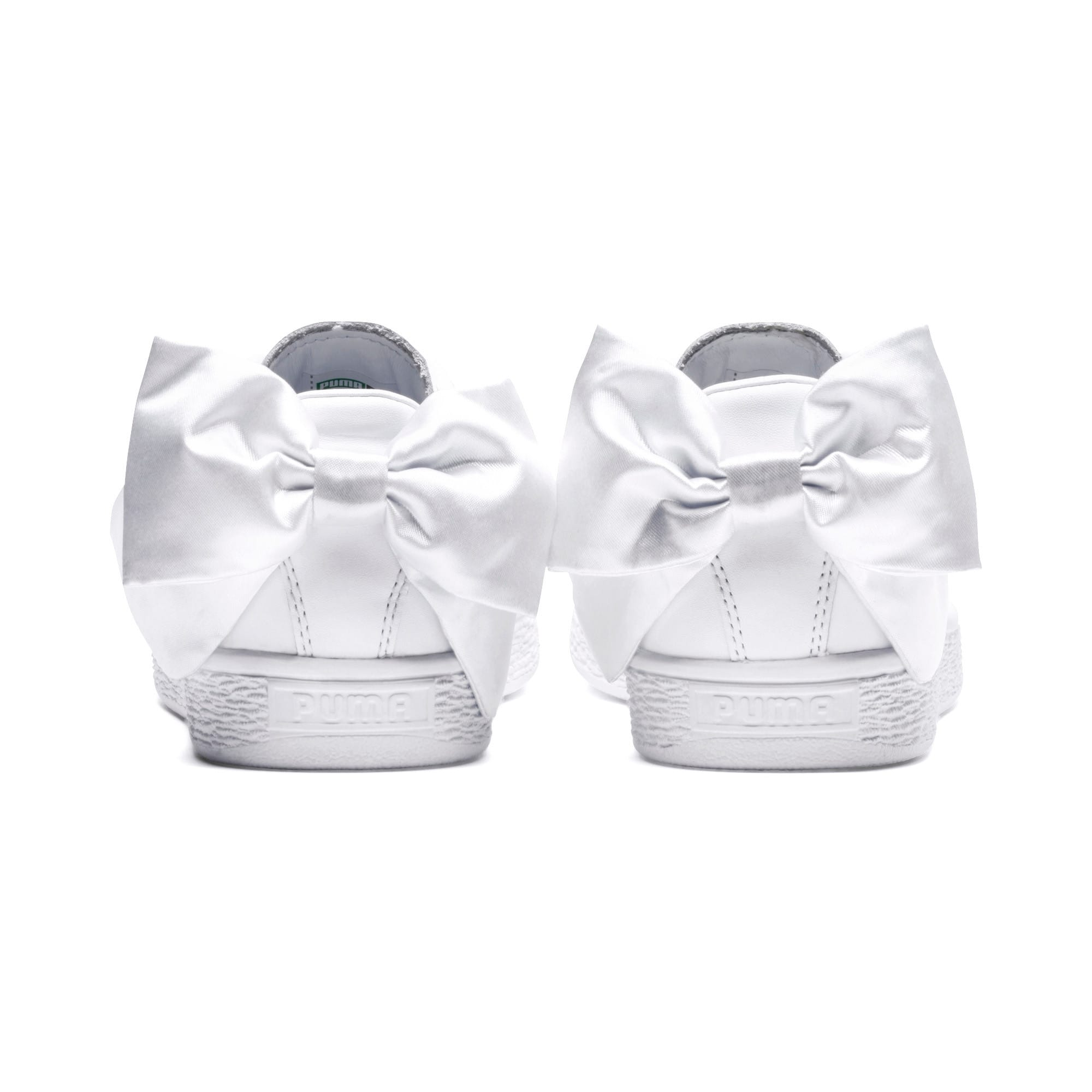 Thumbnail 4 of Basket Bow pour femme, Puma White-Puma White, medium