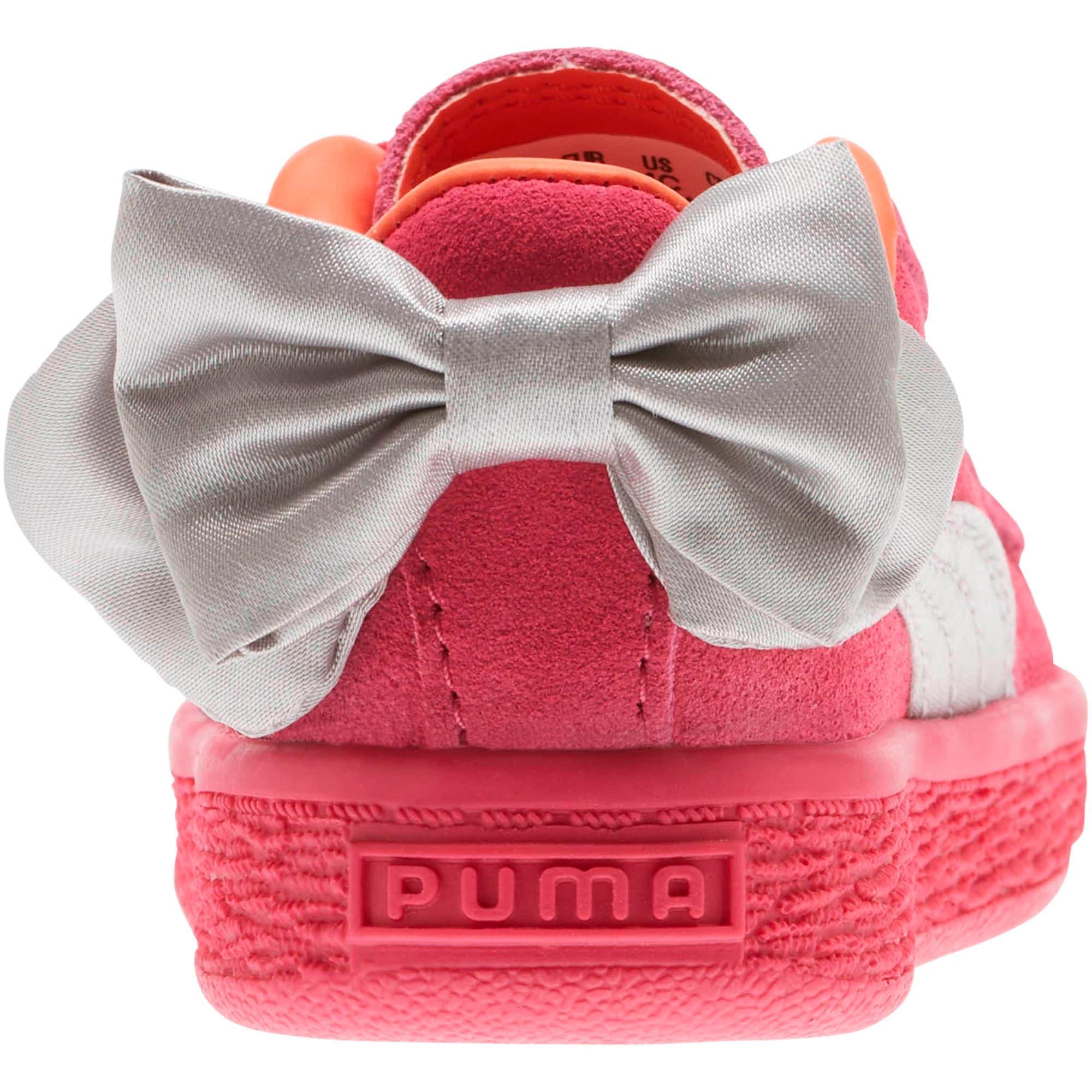 Thumbnail 4 of Suede Bow Toddler Shoes, Fuchsia Purple-Nasturtium, medium