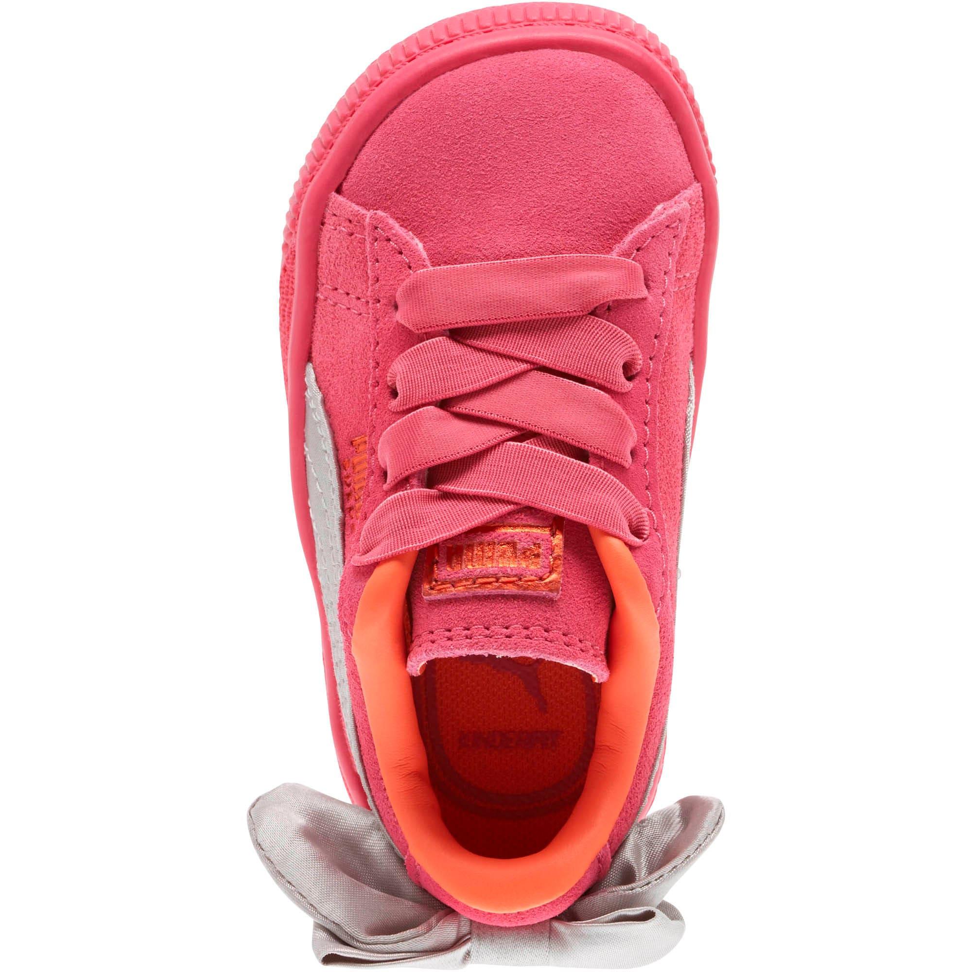 Thumbnail 5 of Suede Bow Toddler Shoes, Fuchsia Purple-Nasturtium, medium