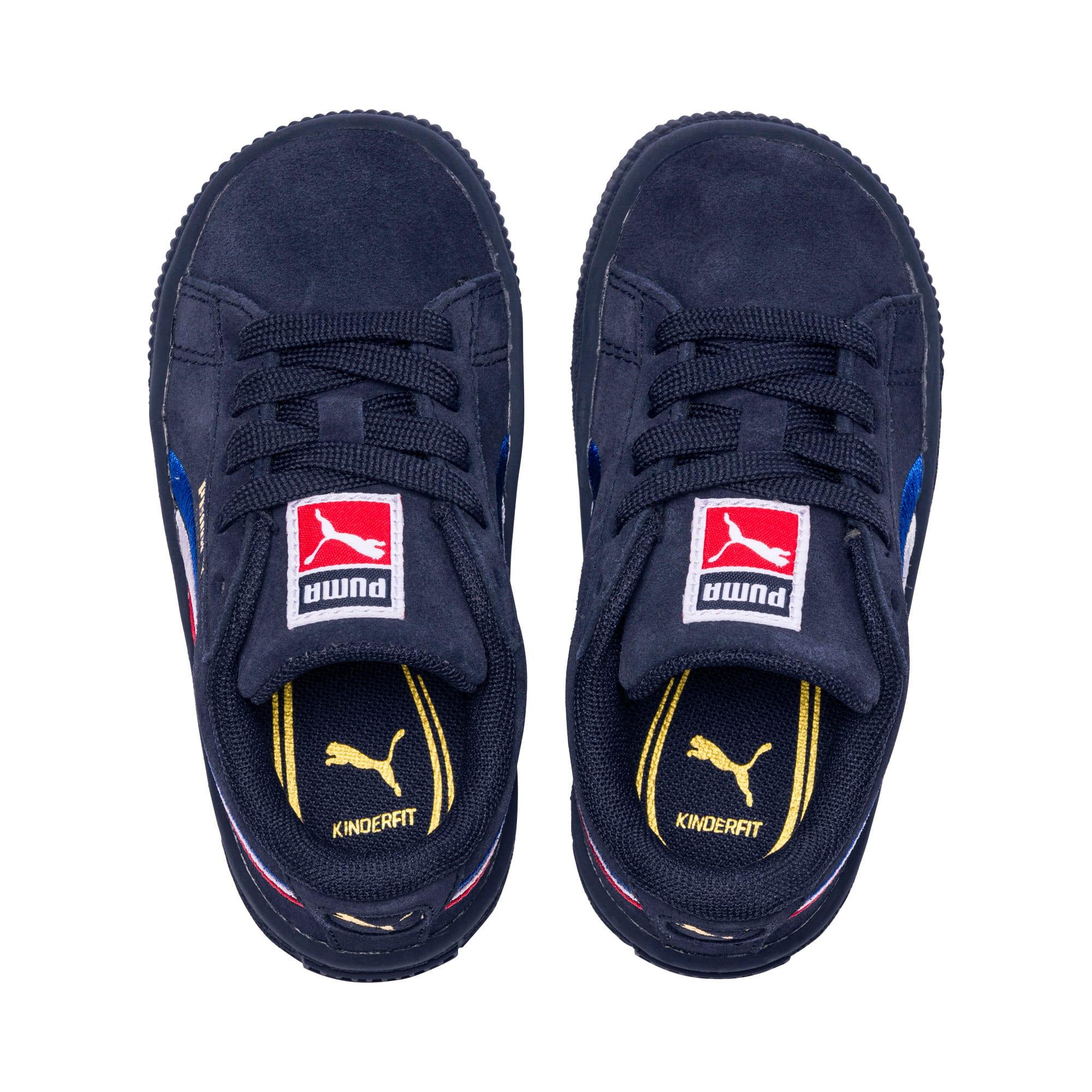 Miniatura 6 de Zapatos Suede Classic con bordado multicolor para niño pequeño, Peacoat-Blanco-Rojo-Azul, mediano