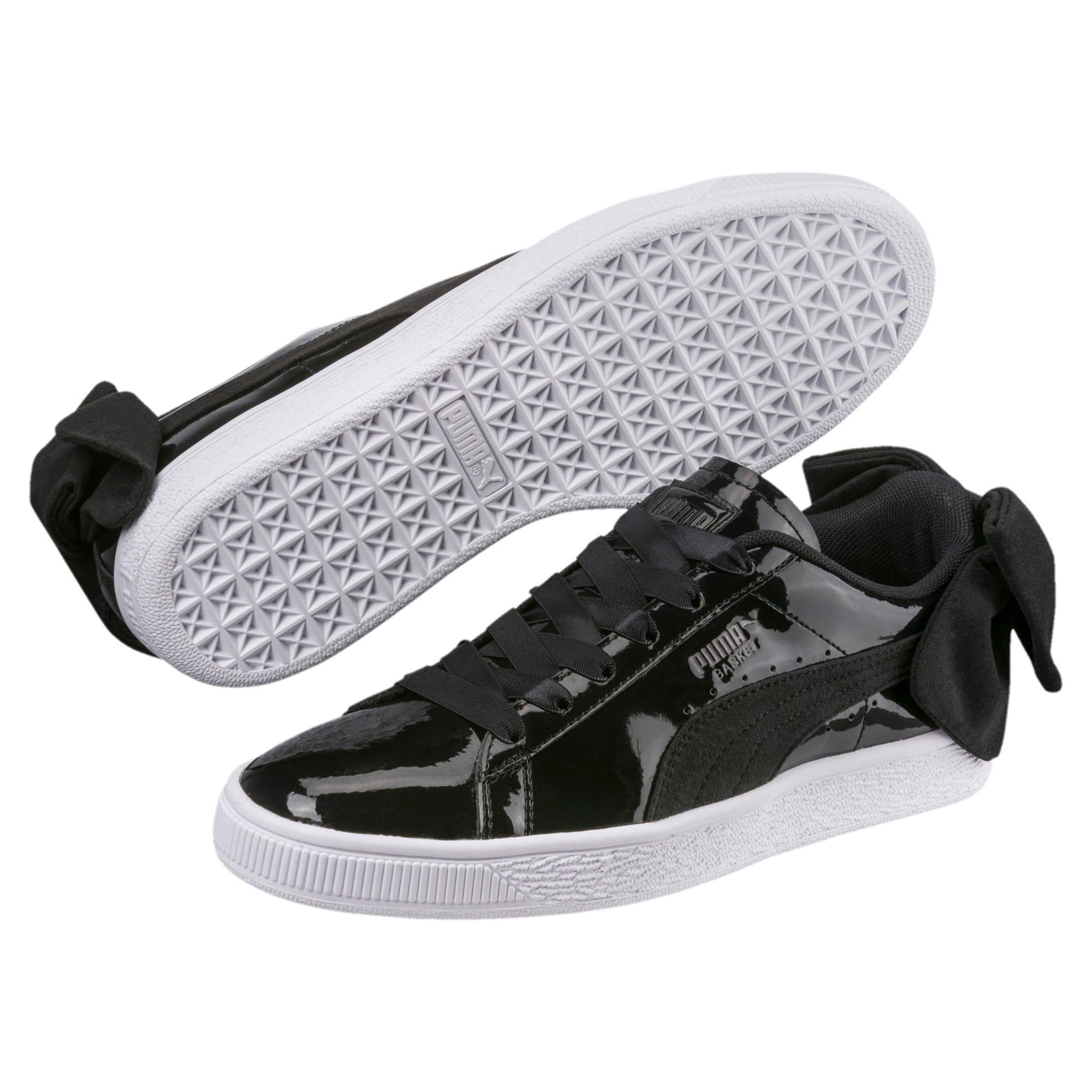 Thumbnail 2 of Basket Suede Bow Women's Sneakers, Puma Black-Puma Black, medium