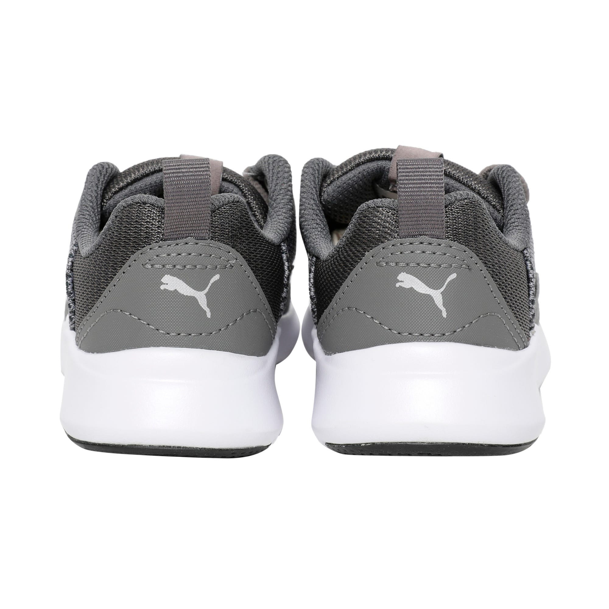 Thumbnail 3 of Wired Knit Kids' Trainers, Charcoal Gray-Puma Silver, medium-IND