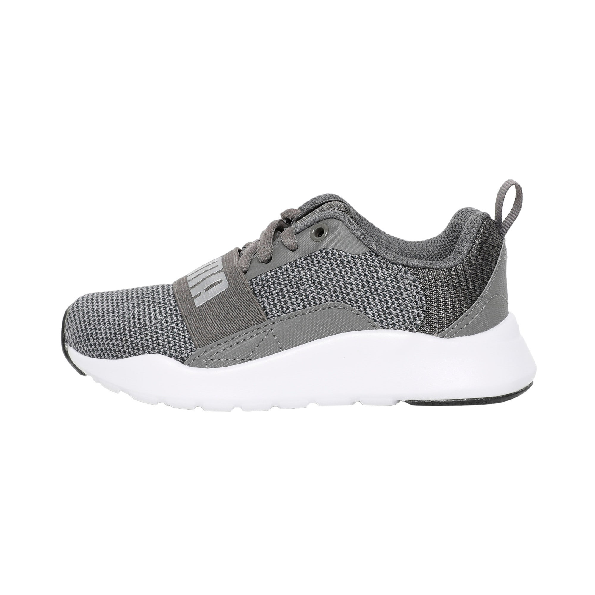 Thumbnail 1 of Wired Knit Kids' Trainers, Charcoal Gray-Puma Silver, medium-IND