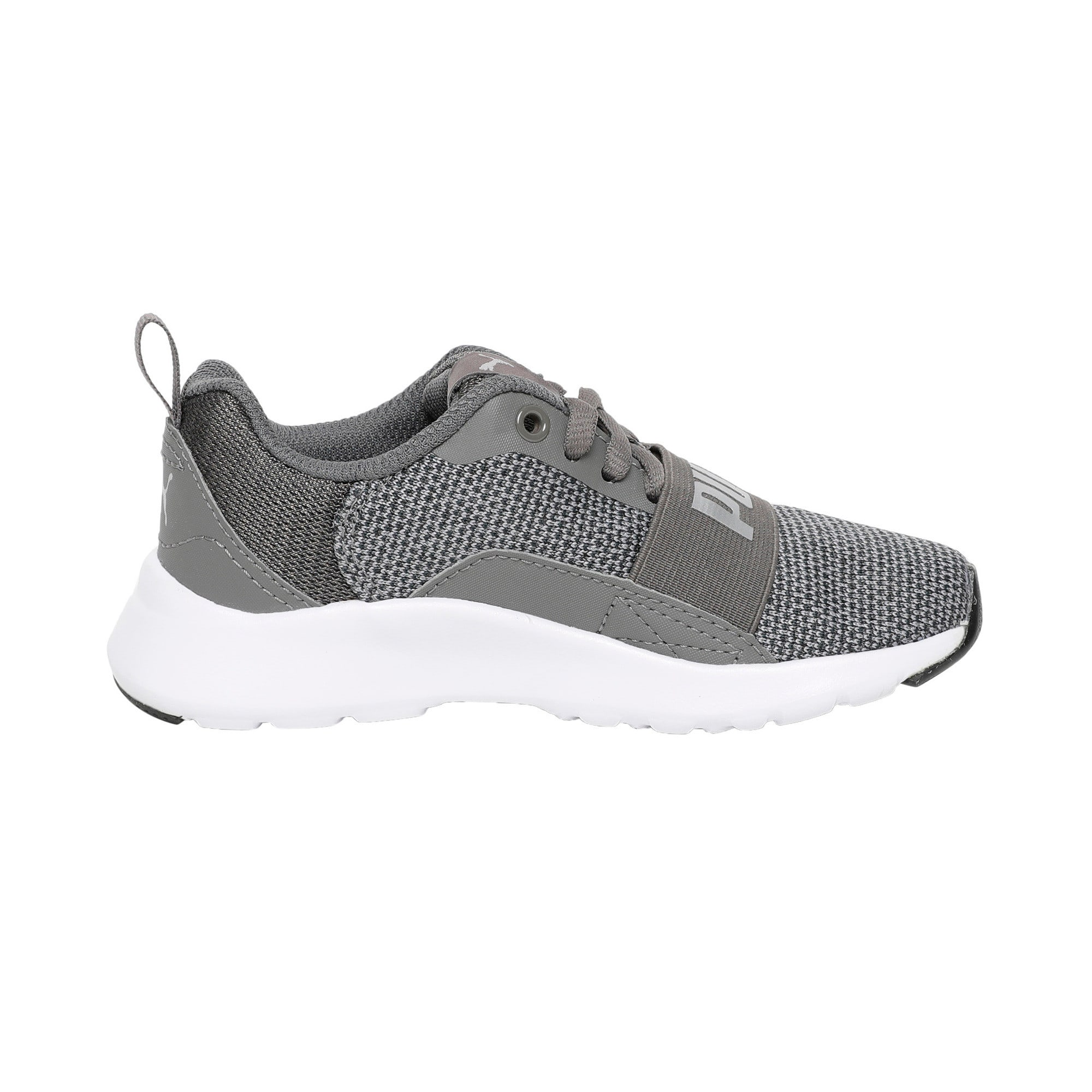 Thumbnail 5 of Wired Knit Kids' Trainers, Charcoal Gray-Puma Silver, medium-IND