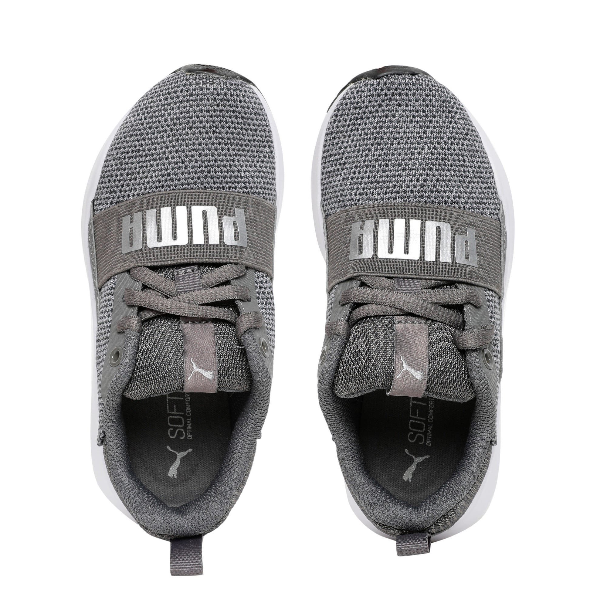 Thumbnail 6 of Wired Knit Kids' Trainers, Charcoal Gray-Puma Silver, medium-IND