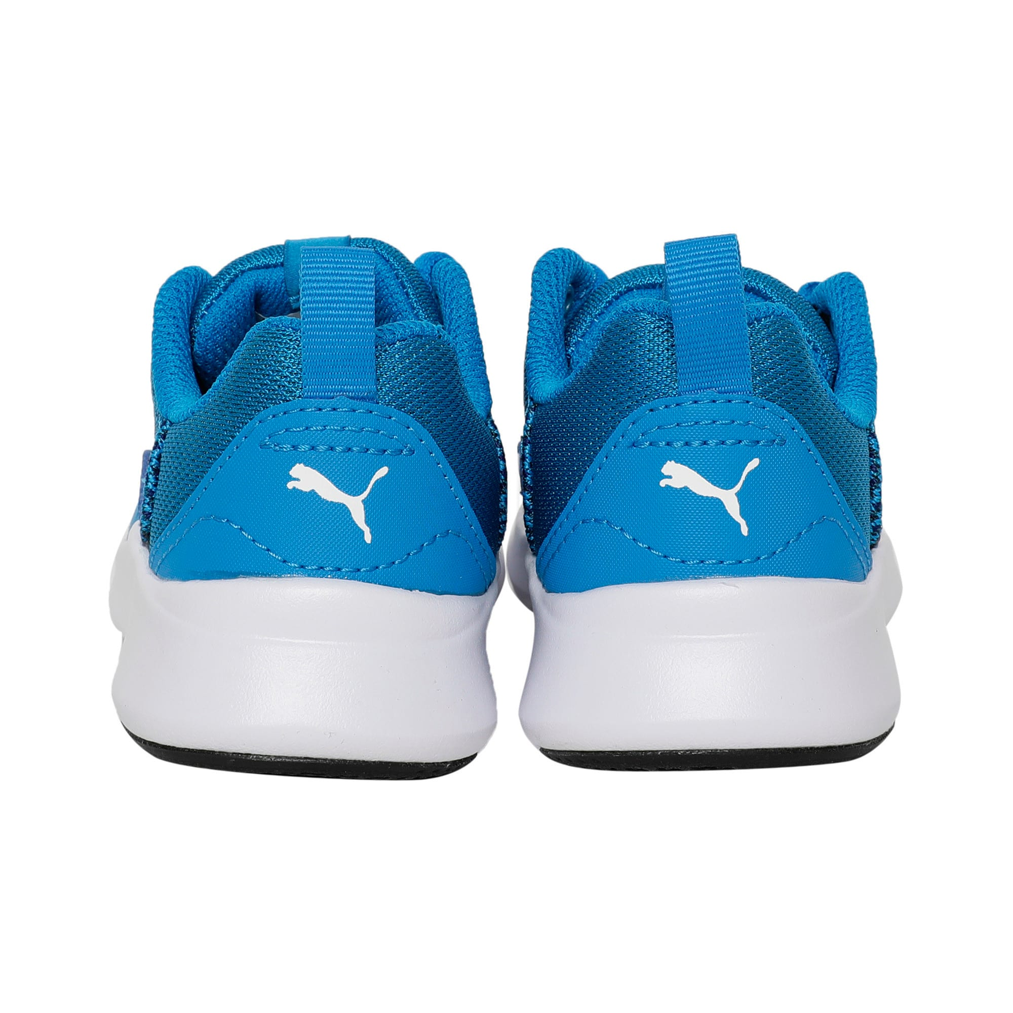 Thumbnail 3 of Wired Knit Kids' Trainers, Indigo Bunting-Puma White, medium-IND