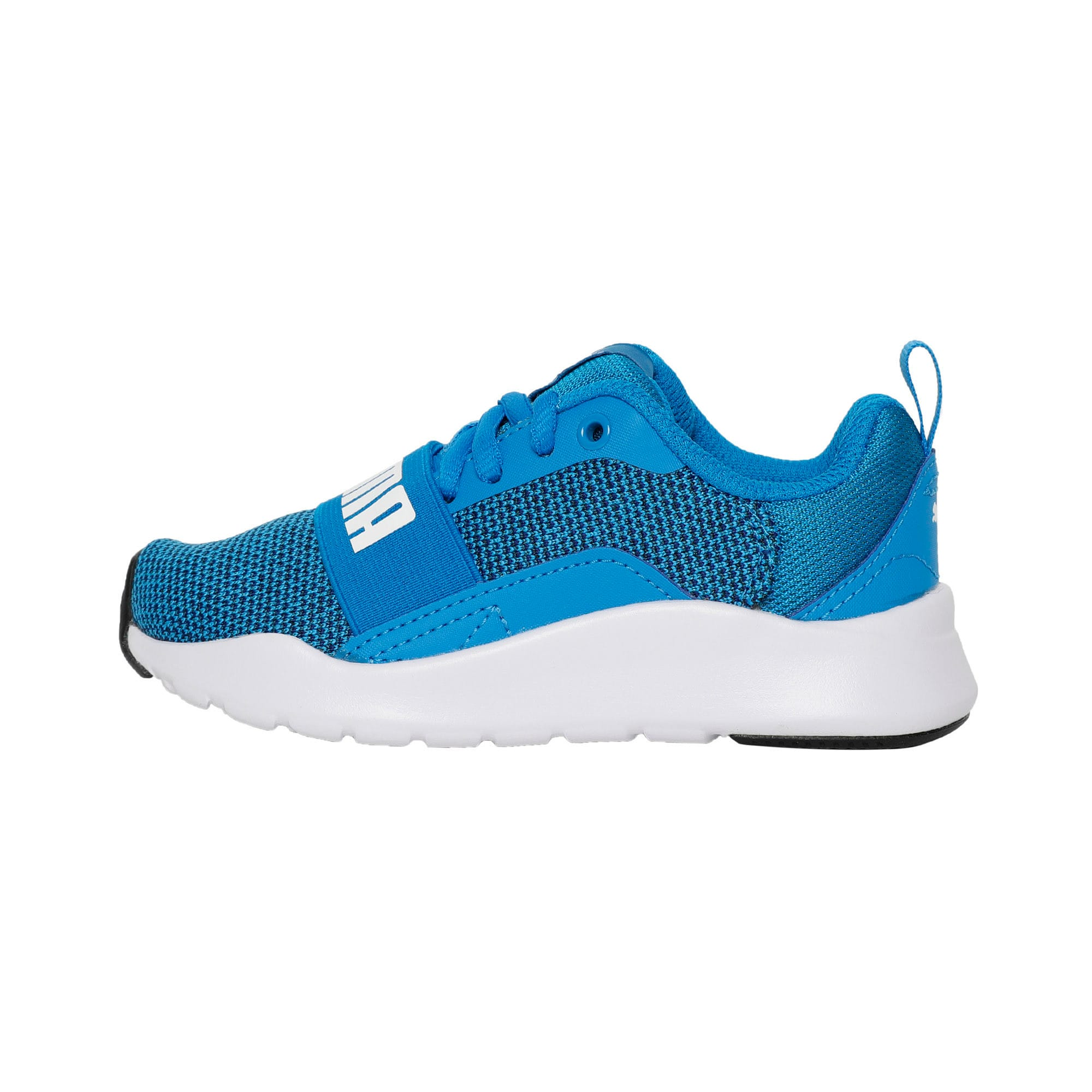 Thumbnail 1 of Wired Knit Kids' Trainers, Indigo Bunting-Puma White, medium-IND