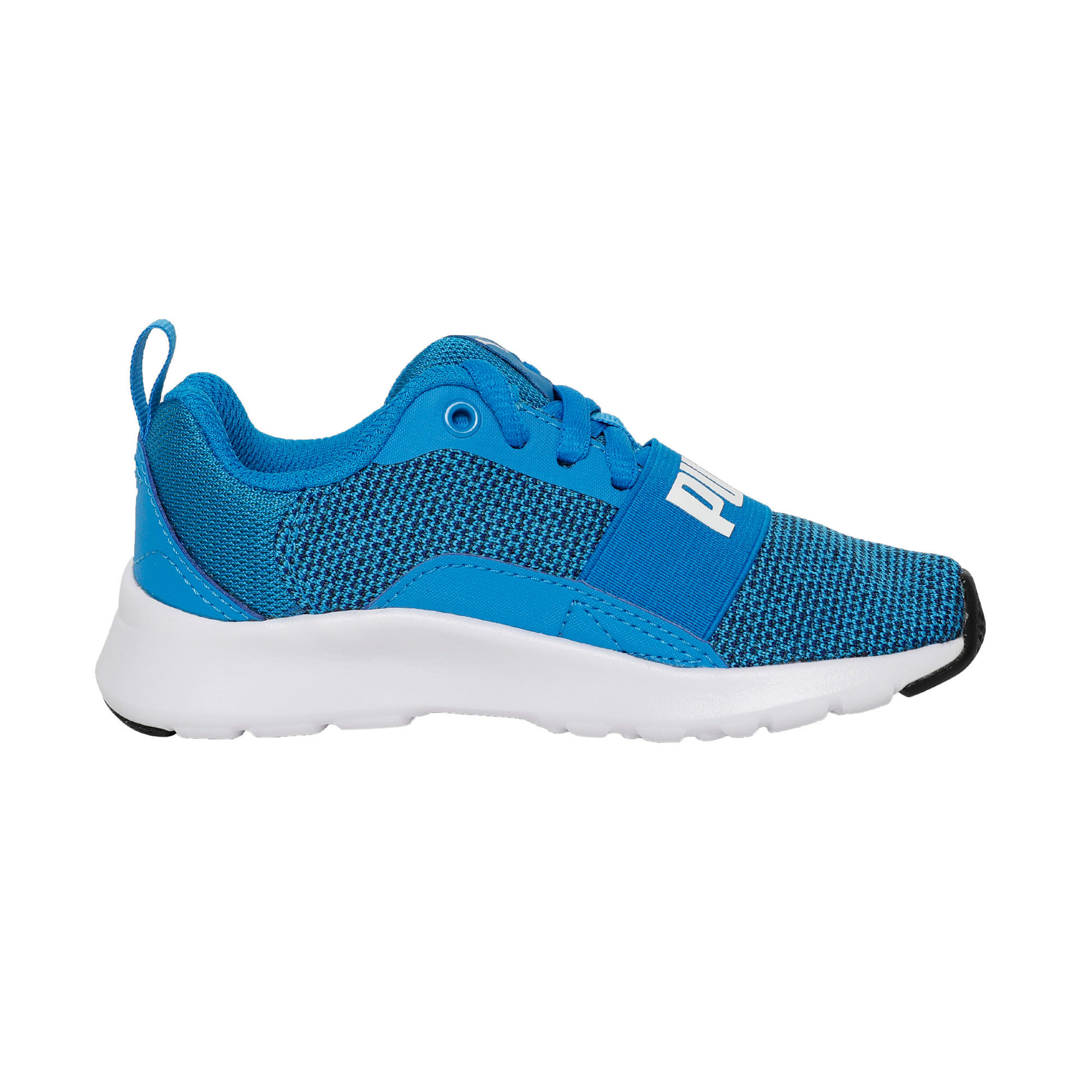 Thumbnail 5 of Wired Knit Kids' Trainers, Indigo Bunting-Puma White, medium-IND