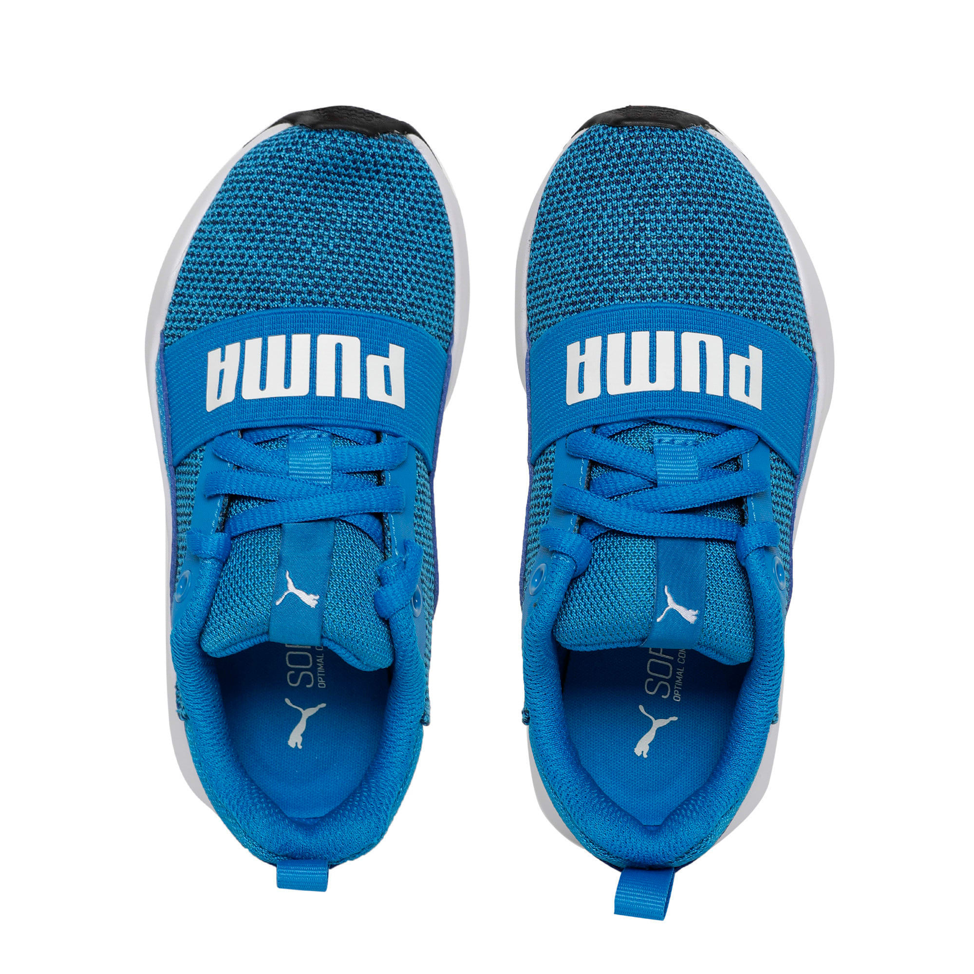 Thumbnail 6 of Wired Knit Kids' Trainers, Indigo Bunting-Puma White, medium-IND