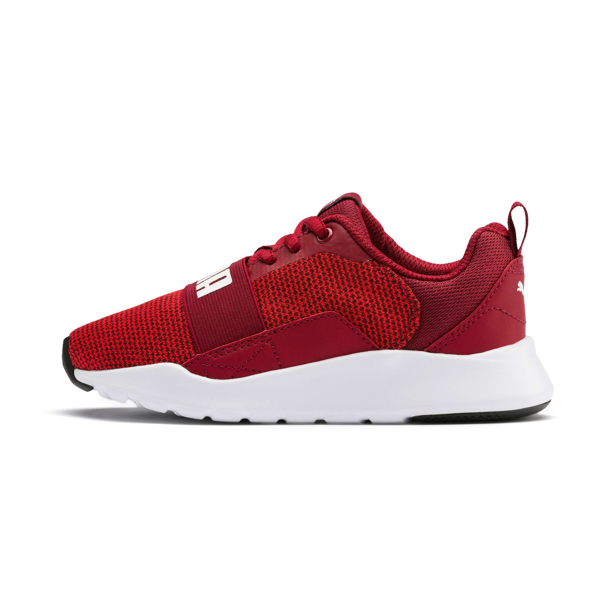 Thumbnail 1 of Wired Knit Kids' Trainers, Rhubarb-Puma White, medium-IND