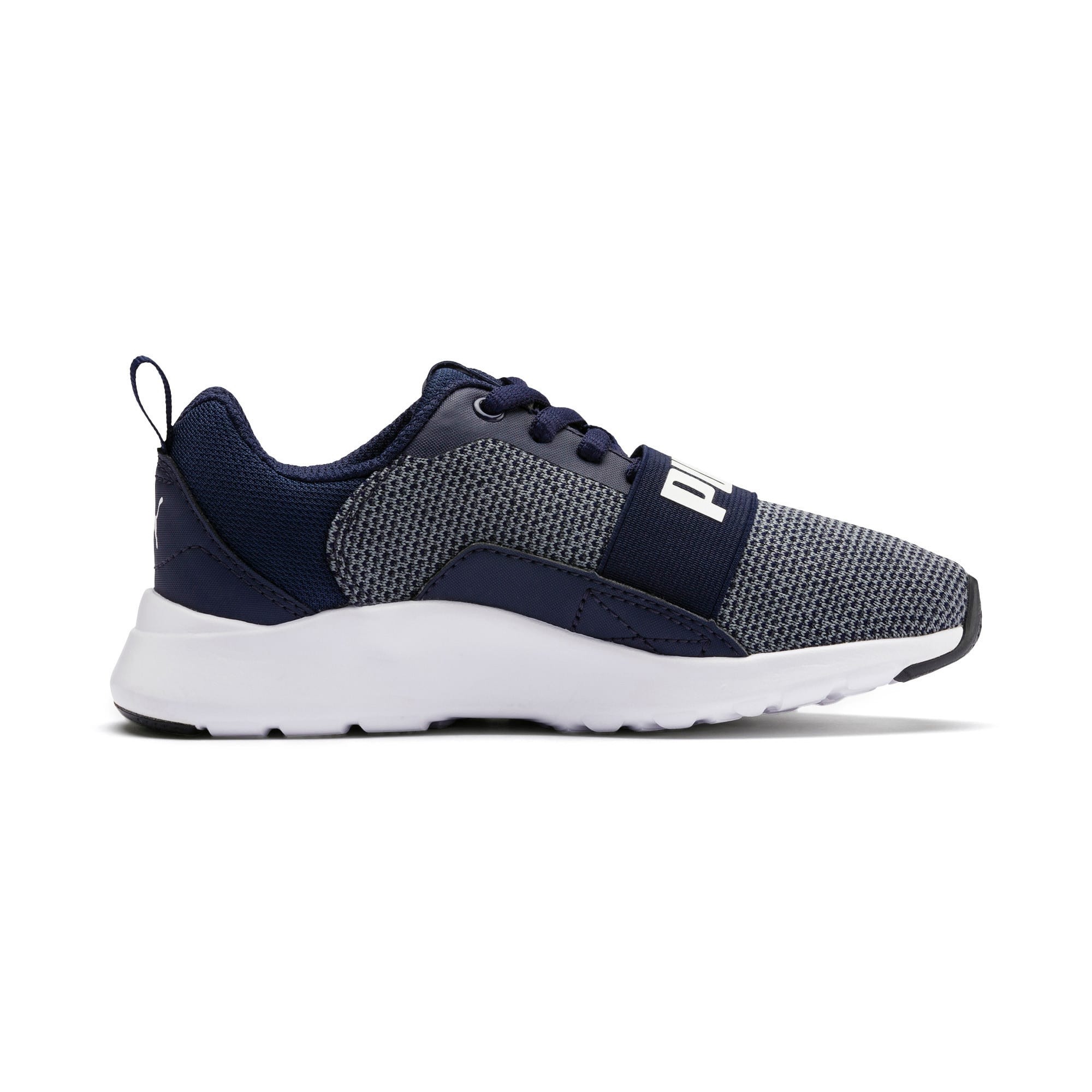 Thumbnail 5 of Wired Knit Kids' Trainers, Peacoat-Puma White, medium-IND