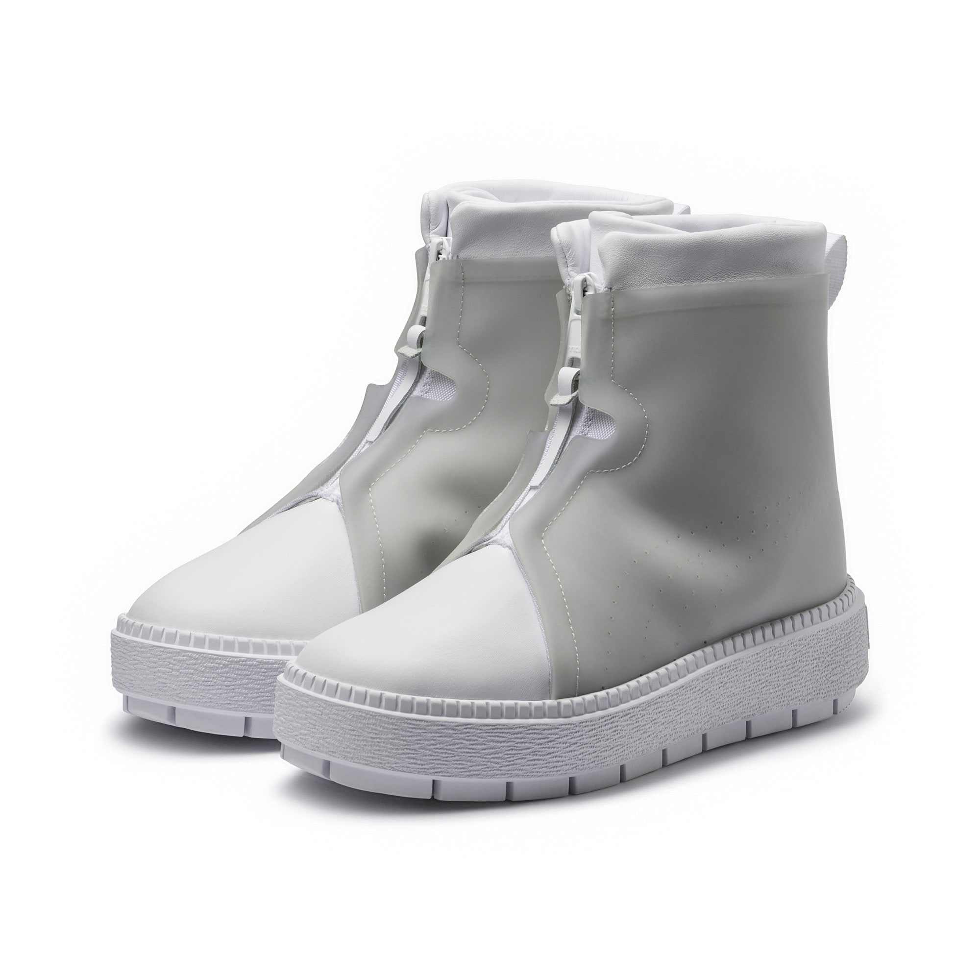 Thumbnail 2 of Platform Trace Women's Rain Boots, Puma White-Gray Violet, medium