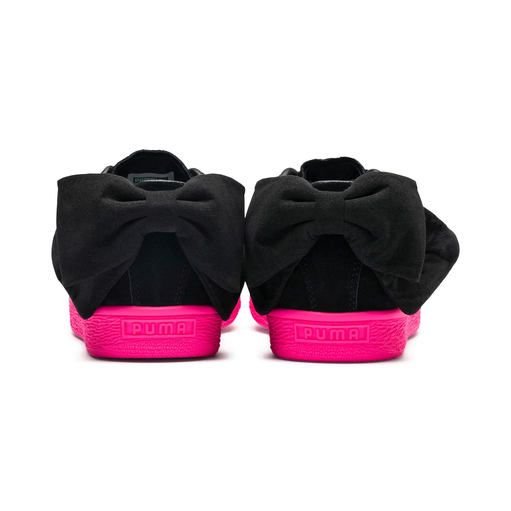 Thumbnail 4 of Suede Bow Block Women's Sneakers, Puma Black-Puma Black, medium