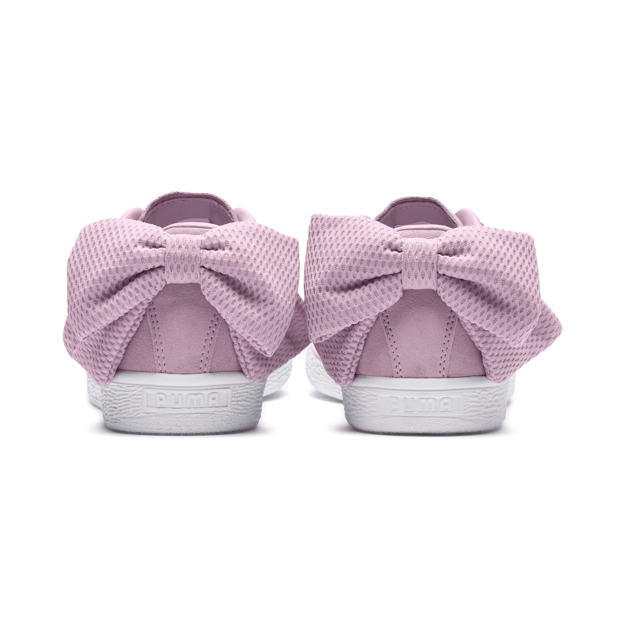 Thumbnail 4 of Suede Bow Uprising Women's Sneakers, Winsome Orchid-Puma White, medium
