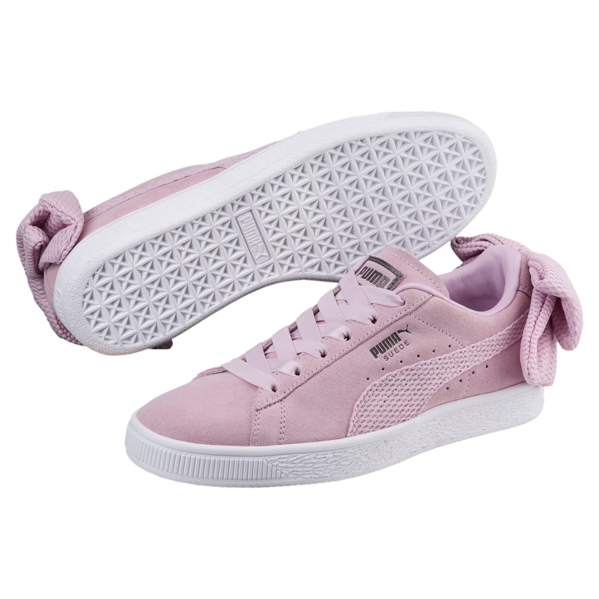 Thumbnail 2 of Suede Bow Uprising Women's Sneakers, Winsome Orchid-Puma White, medium