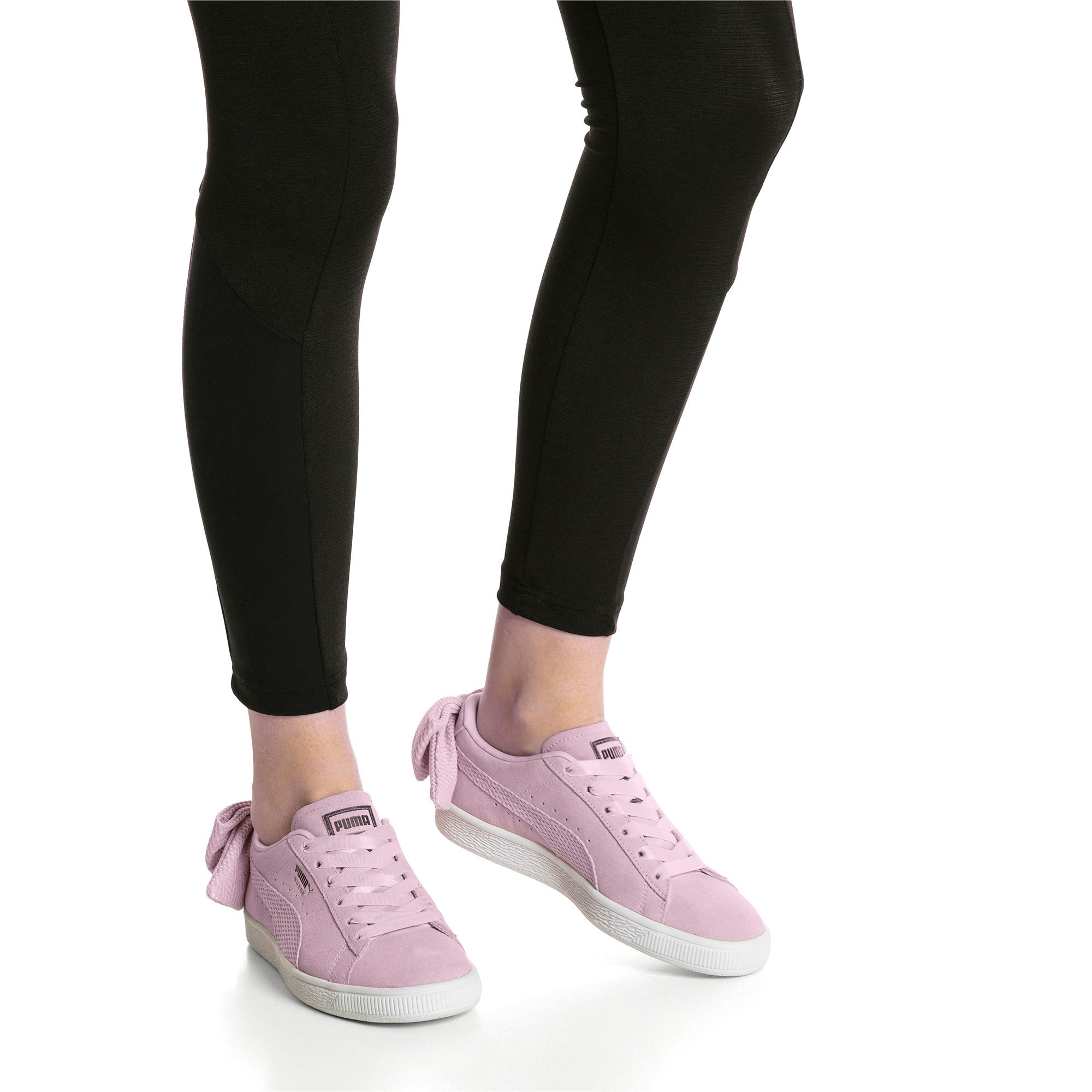Thumbnail 7 of Suede Bow Uprising Women's Sneakers, Winsome Orchid-Puma White, medium
