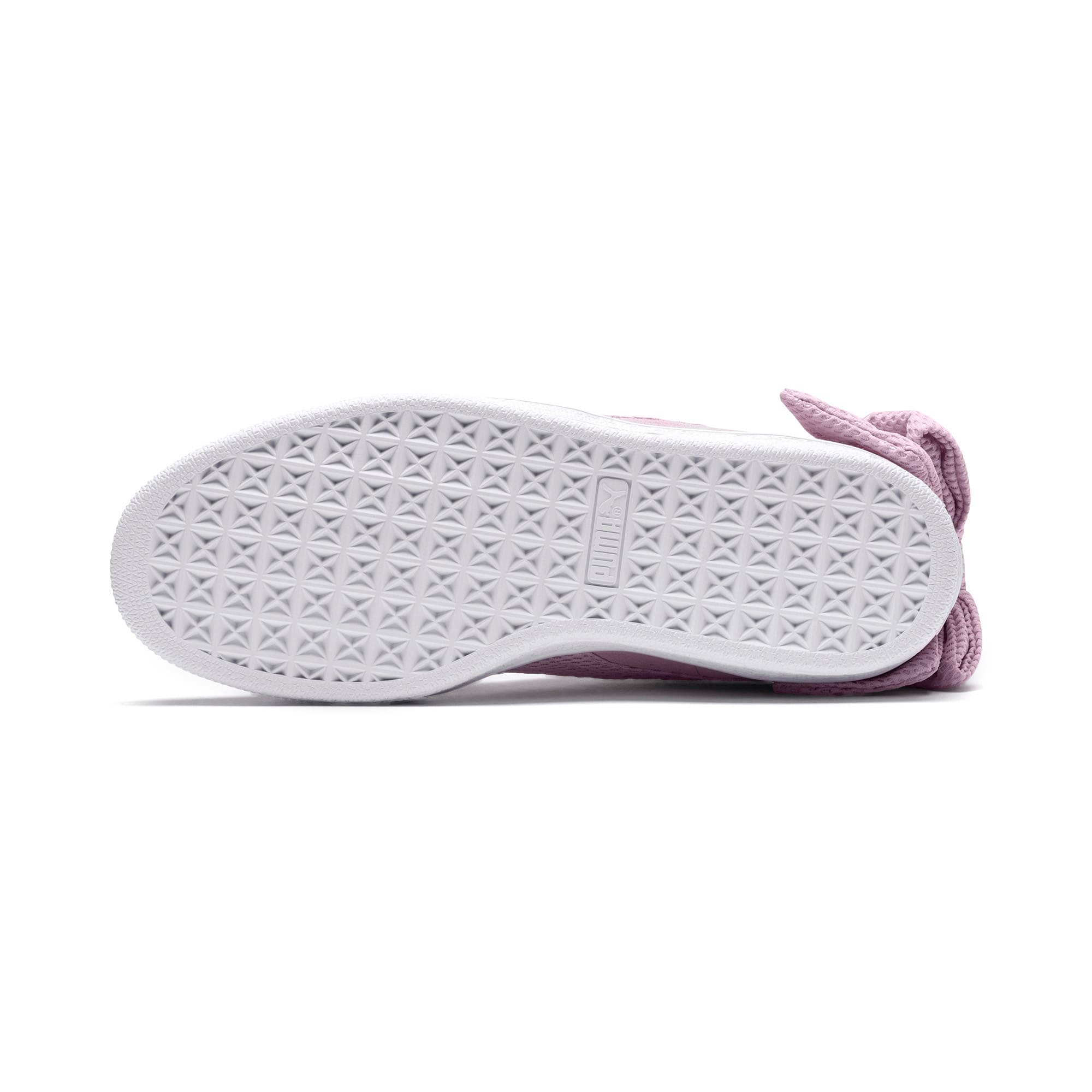 Thumbnail 3 of Suede Bow Uprising Women's Sneakers, Winsome Orchid-Puma White, medium