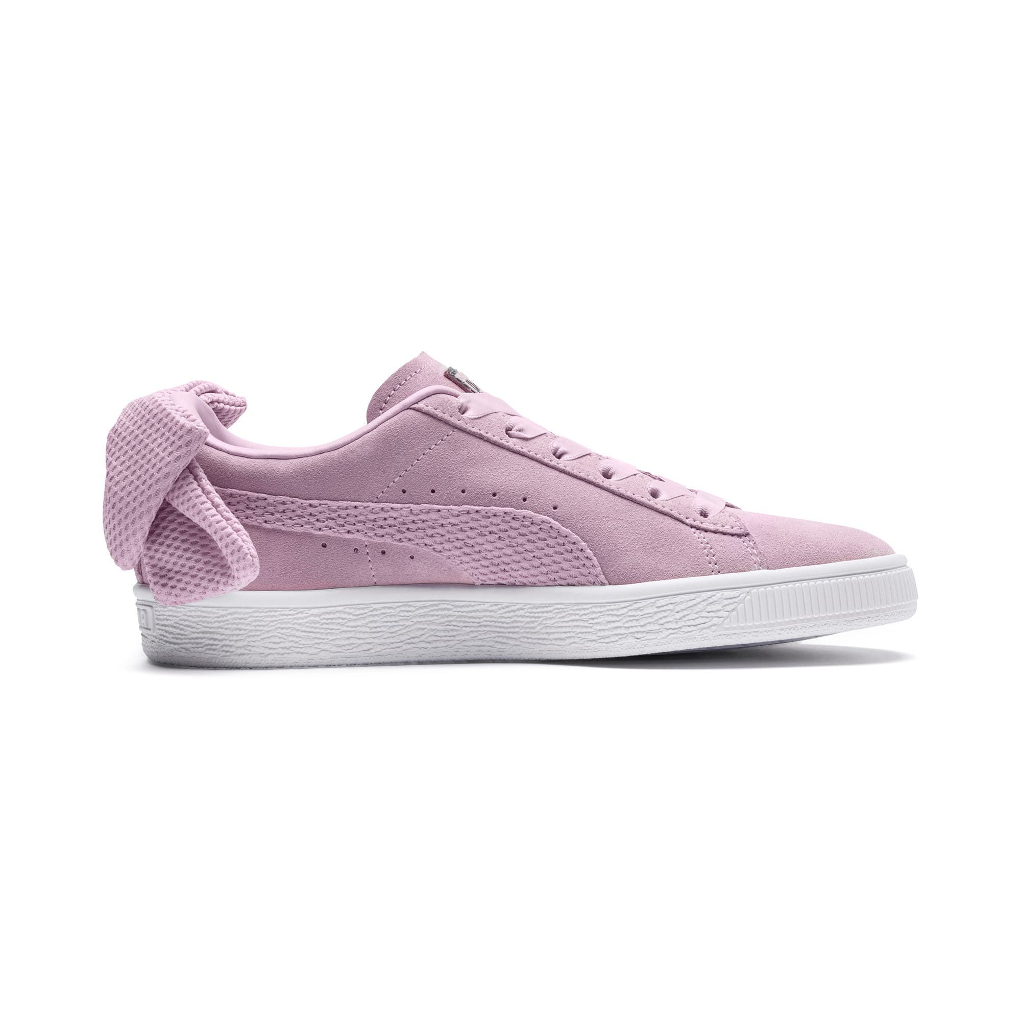 Thumbnail 5 of Suede Bow Uprising Women's Sneakers, Winsome Orchid-Puma White, medium