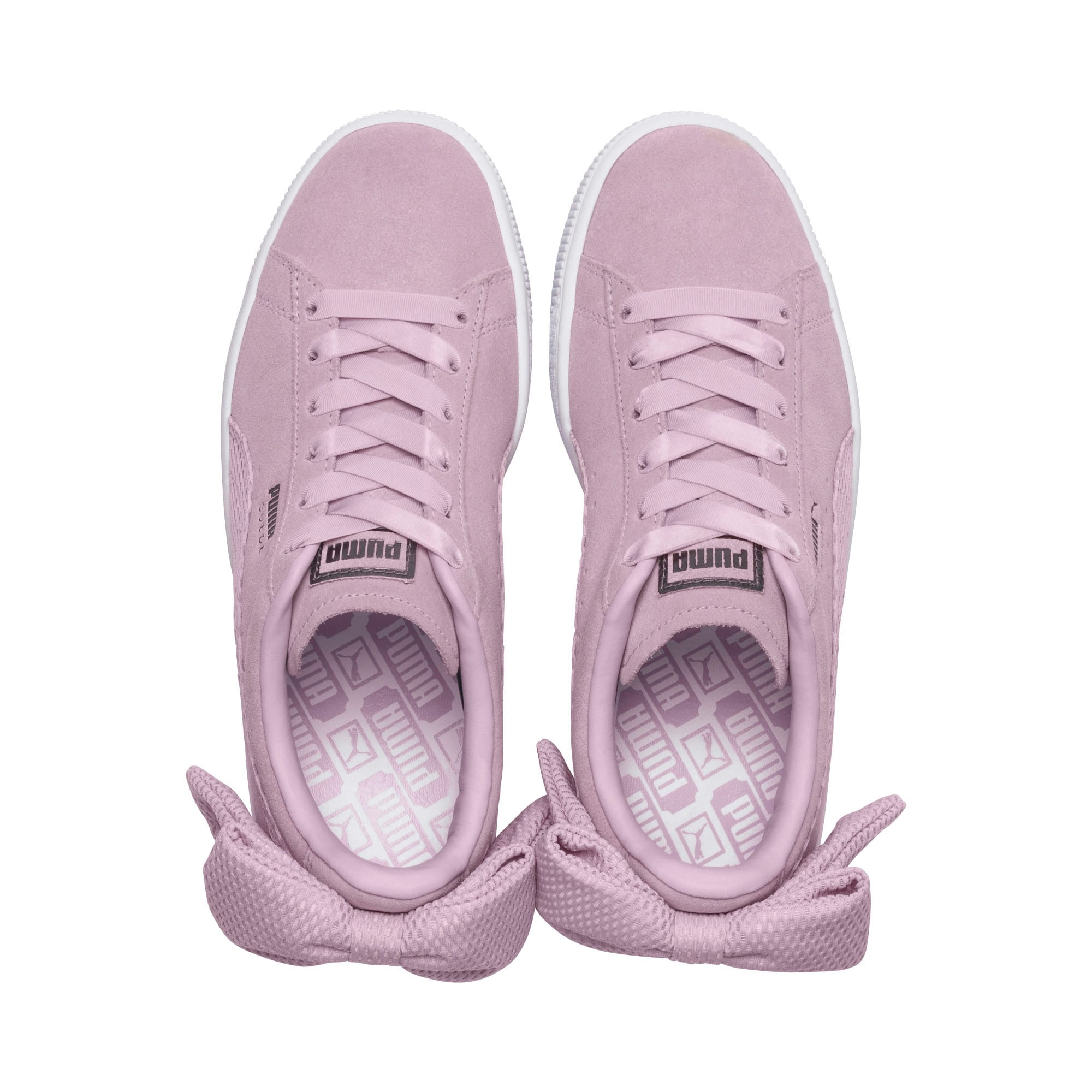 Thumbnail 6 of Suede Bow Uprising Women's Sneakers, Winsome Orchid-Puma White, medium