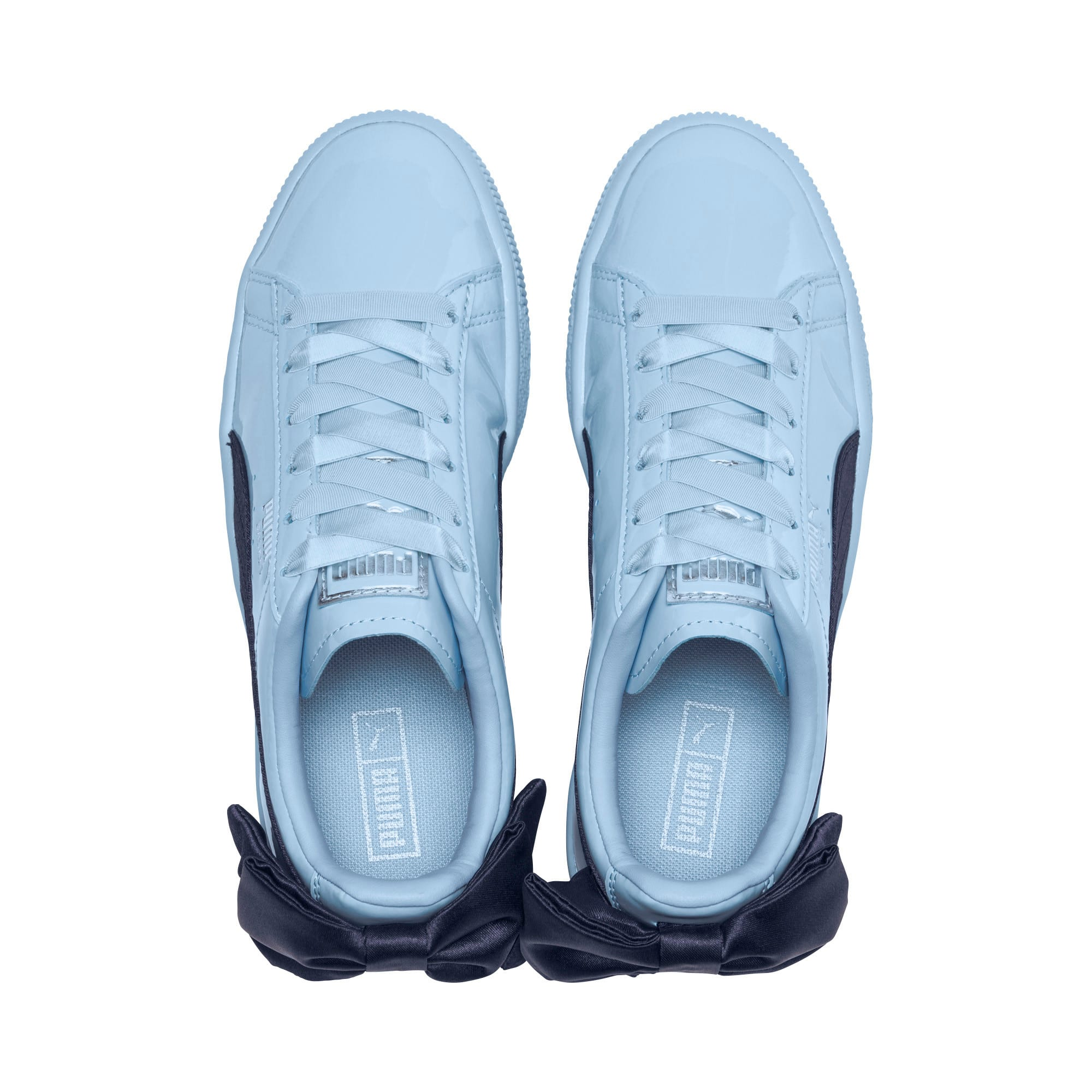 Thumbnail 6 of Basket Bow Patent Sneakers JR, CERULEAN-Peacoat, medium
