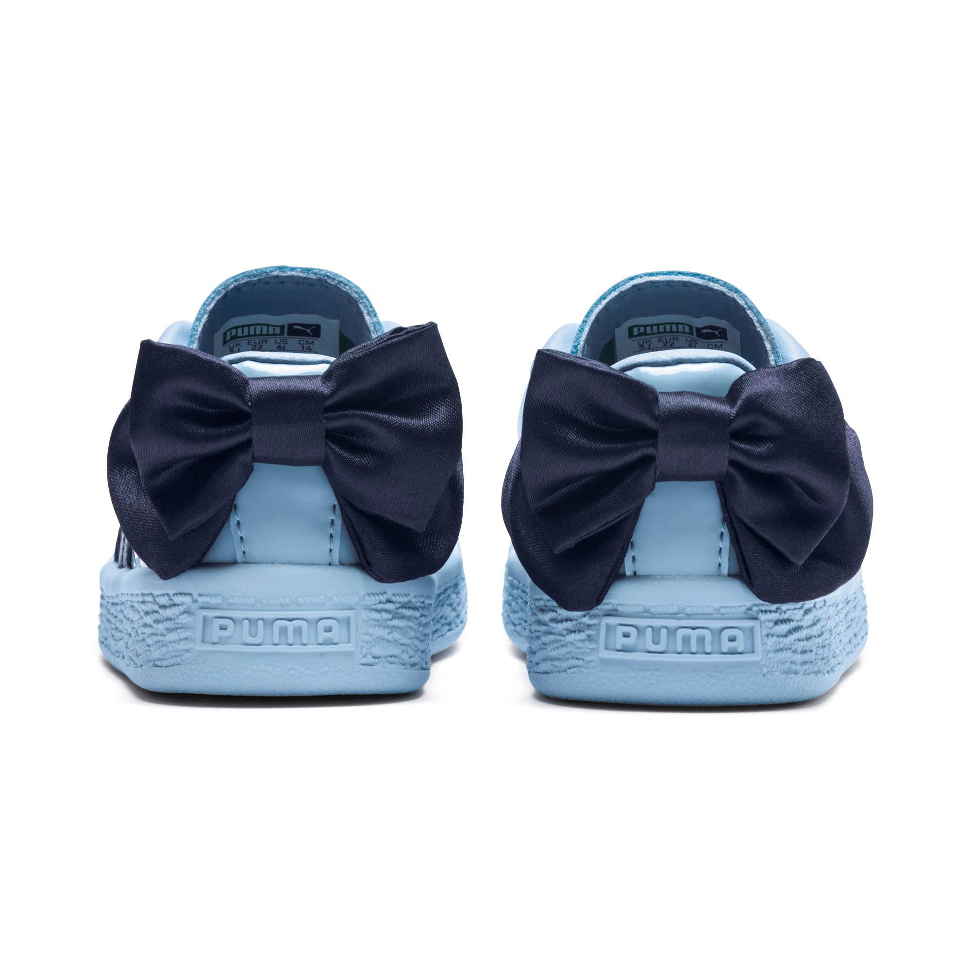 Thumbnail 4 of Basket Bow Patent AC Toddler Shoes, CERULEAN-Peacoat, medium
