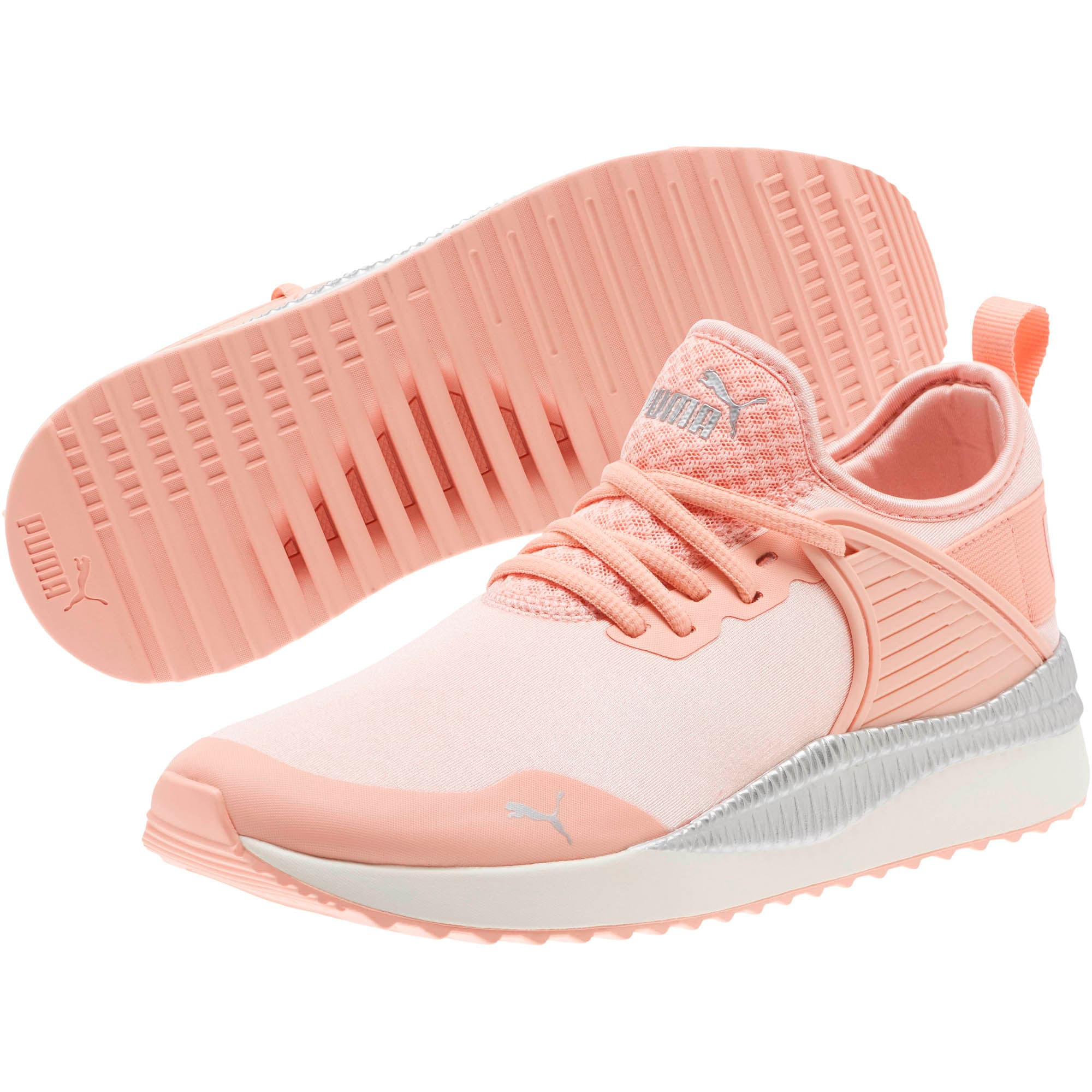Thumbnail 2 of Pacer Next Cage ST2 Women's Sneakers, Peach Bud-Puma Silver, medium