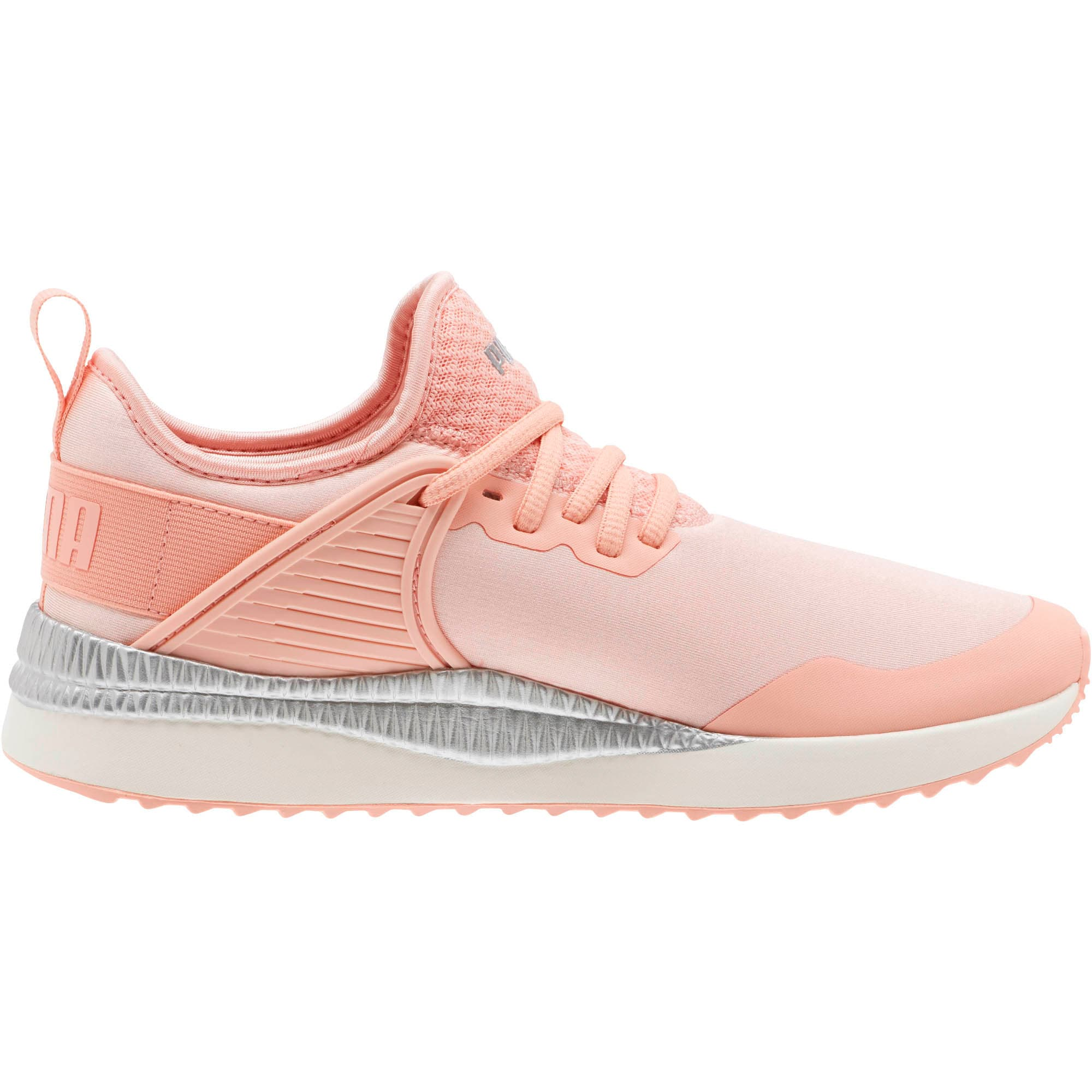 Thumbnail 3 of Pacer Next Cage ST2 Women's Sneakers, Peach Bud-Puma Silver, medium