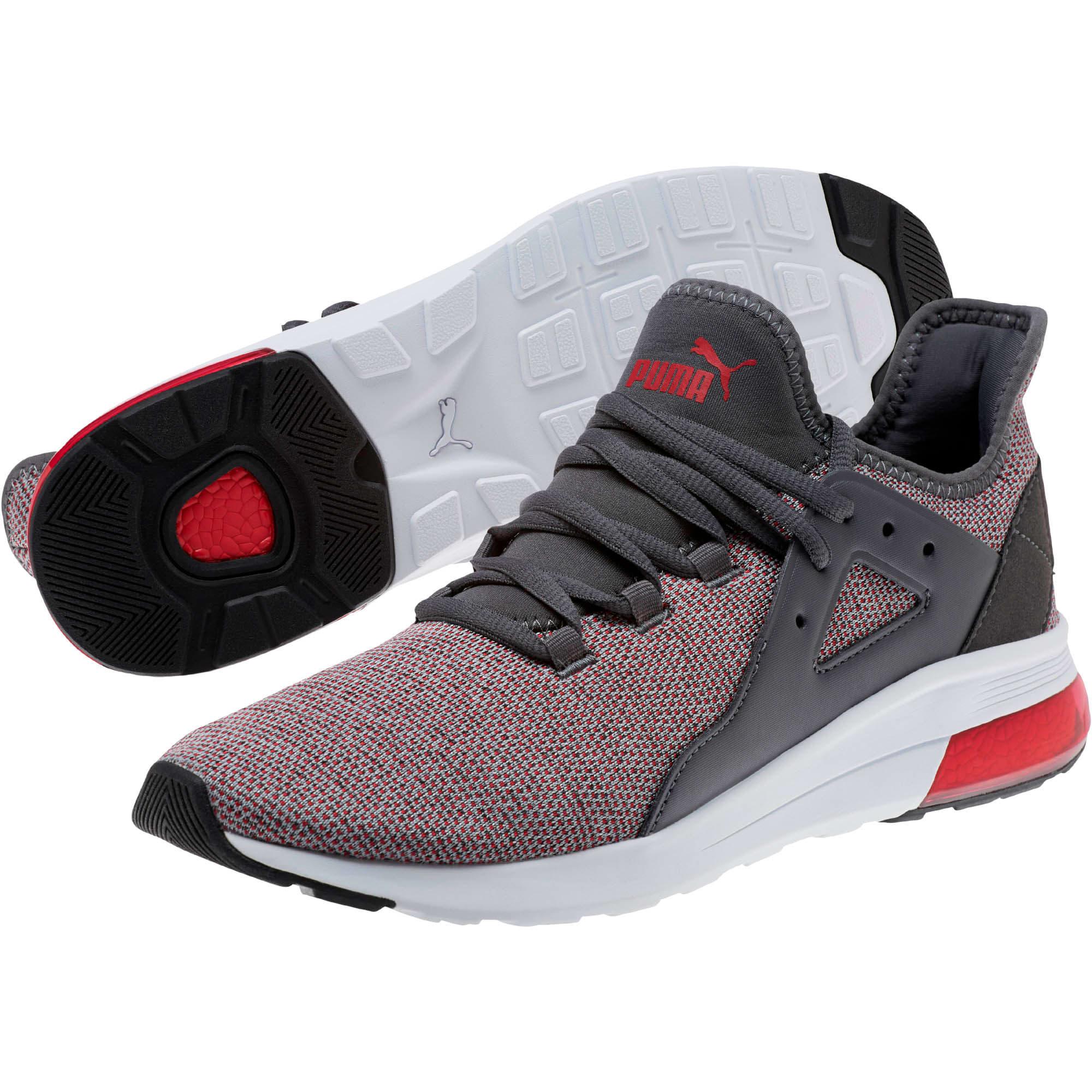 Thumbnail 2 of Electron Street Knit Sneakers, Iron Gate-Ribbon Red, medium