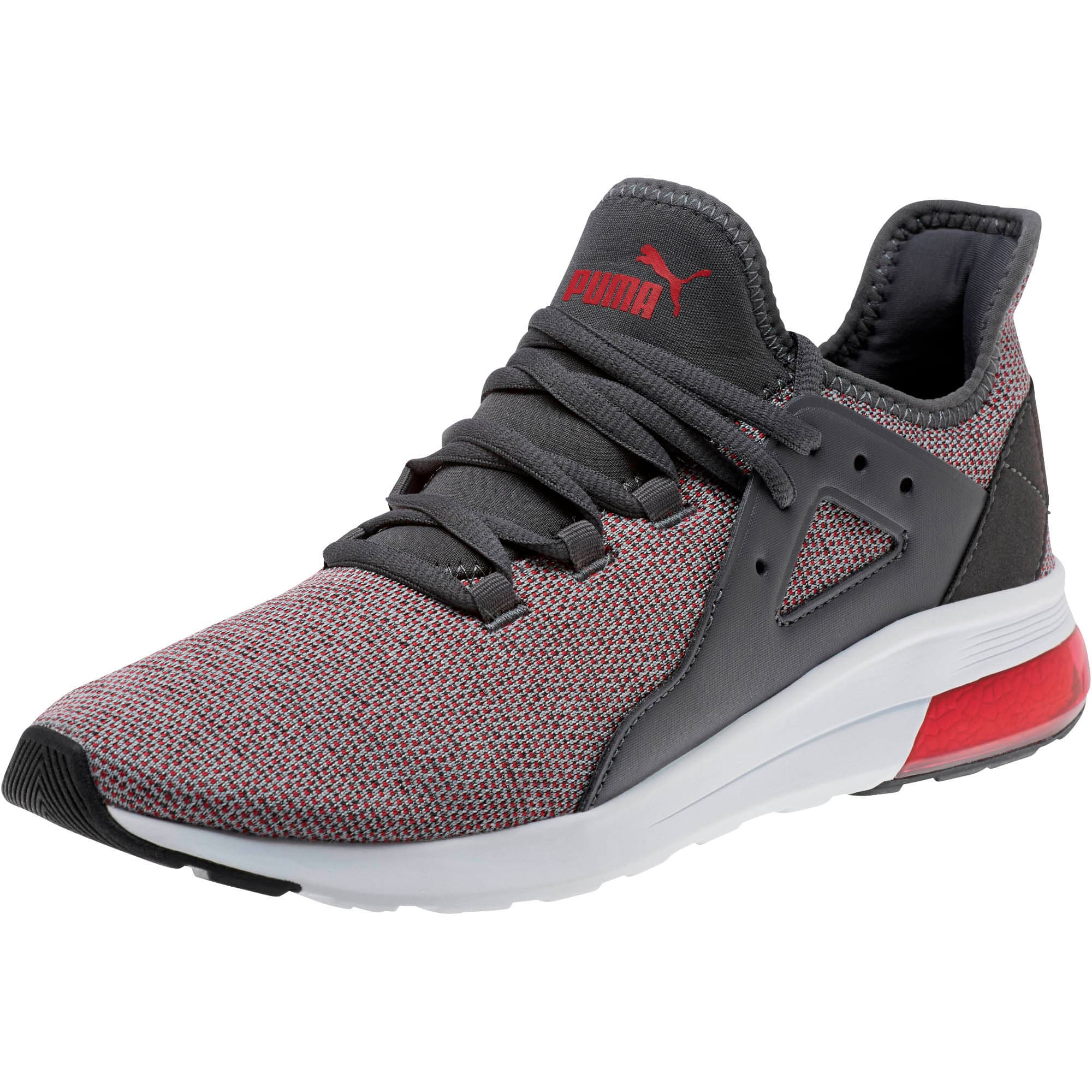 Thumbnail 1 of Electron Street Knit Sneakers, Iron Gate-Ribbon Red, medium