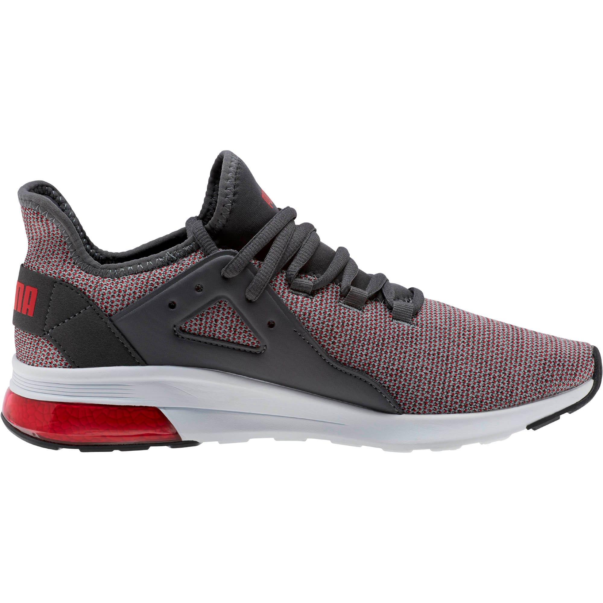 Thumbnail 3 of Electron Street Knit Sneakers, Iron Gate-Ribbon Red, medium