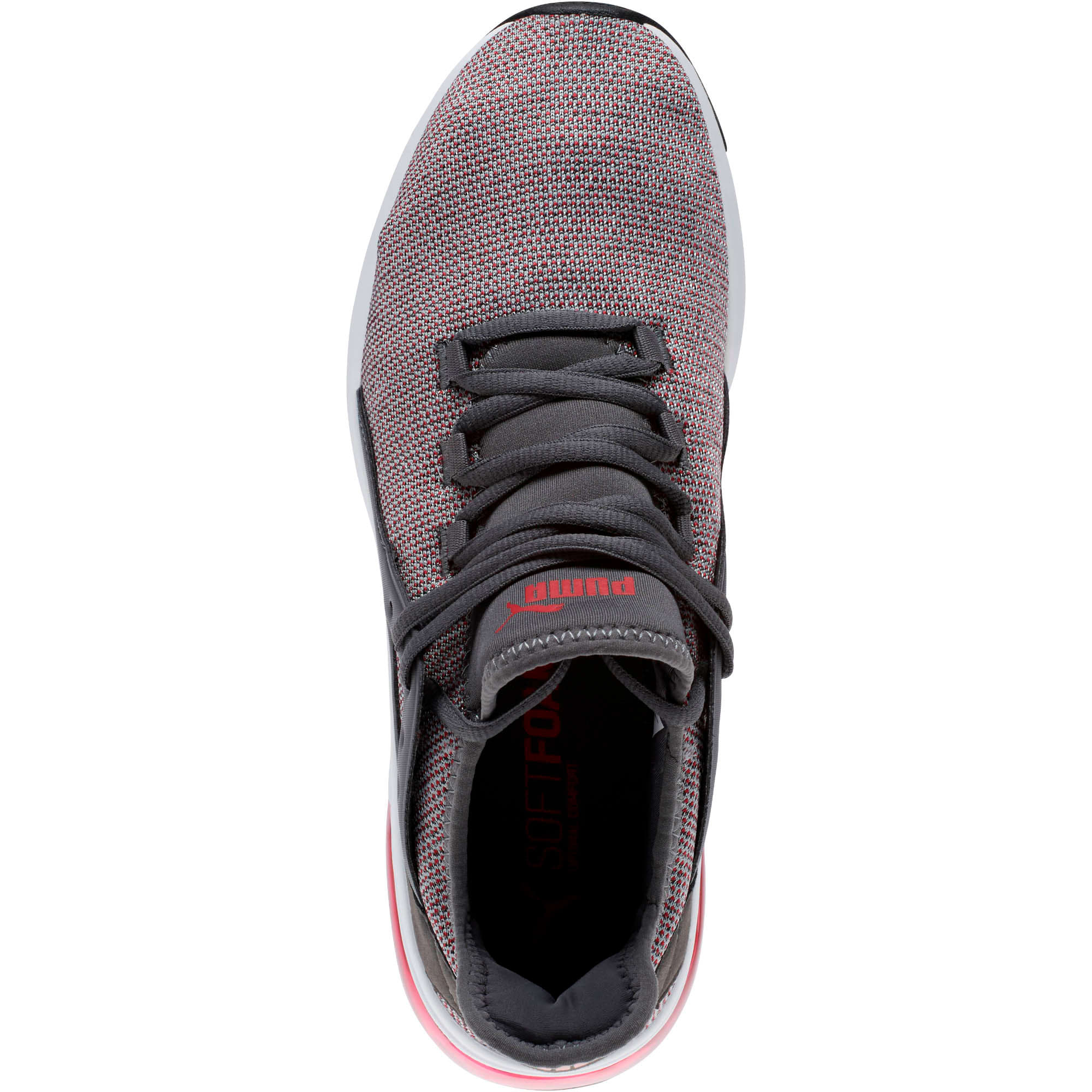 Thumbnail 5 of Electron Street Knit Sneakers, Iron Gate-Ribbon Red, medium
